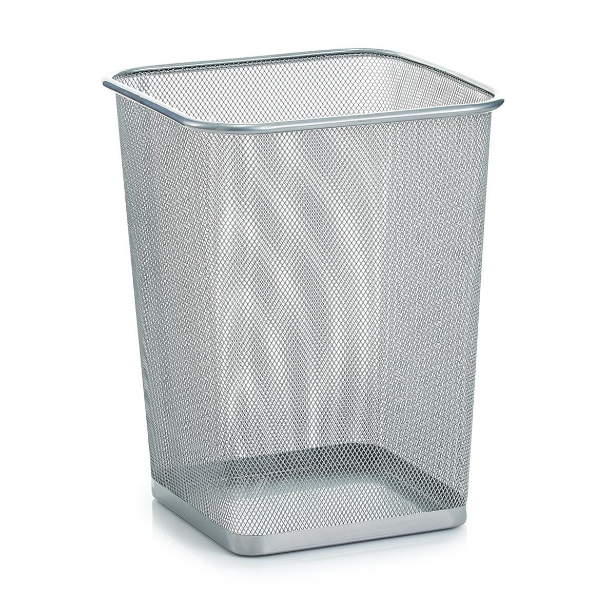 Cos de gunoi din metal pentru birou, Office Gri, l26,8xA26,8xH35 cm imagine