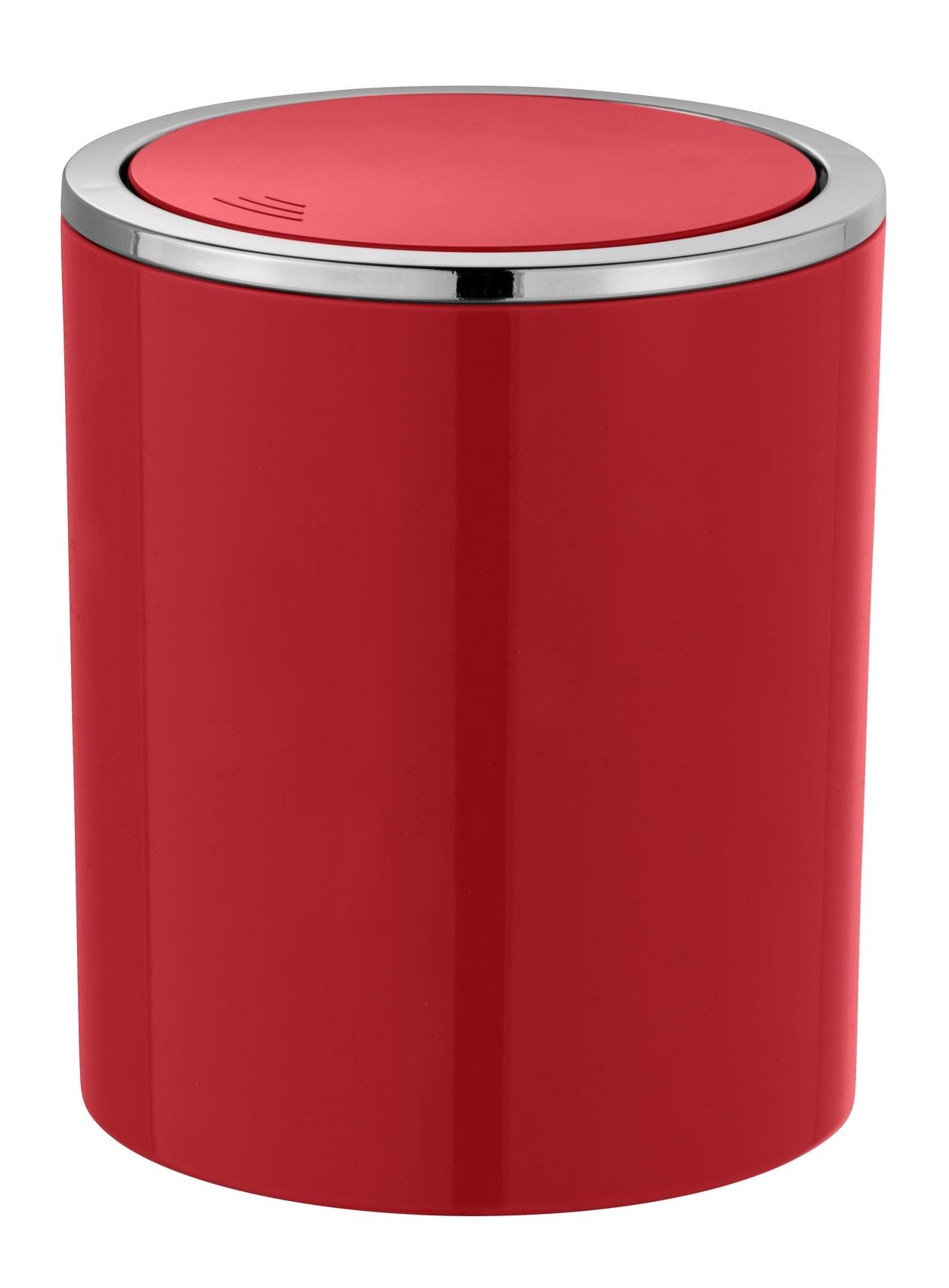 Cos de gunoi pentru baie, din ABS, Inca Rosu, 2L, Ø14xH16,8 cm imagine