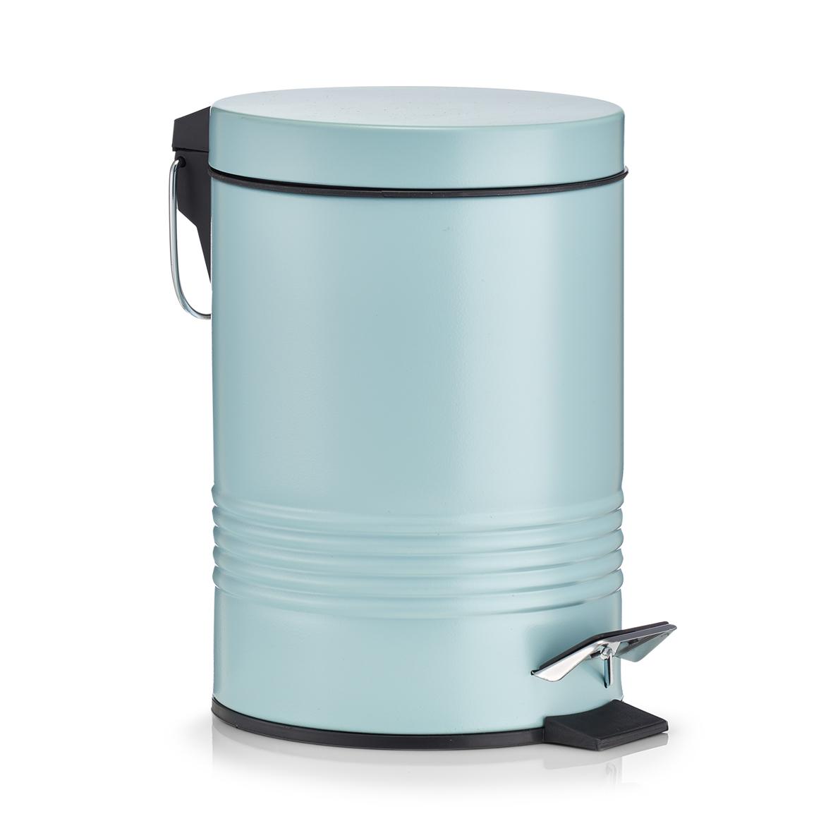 Cos de gunoi cu pedala pentru baie, Mint, 3L imagine