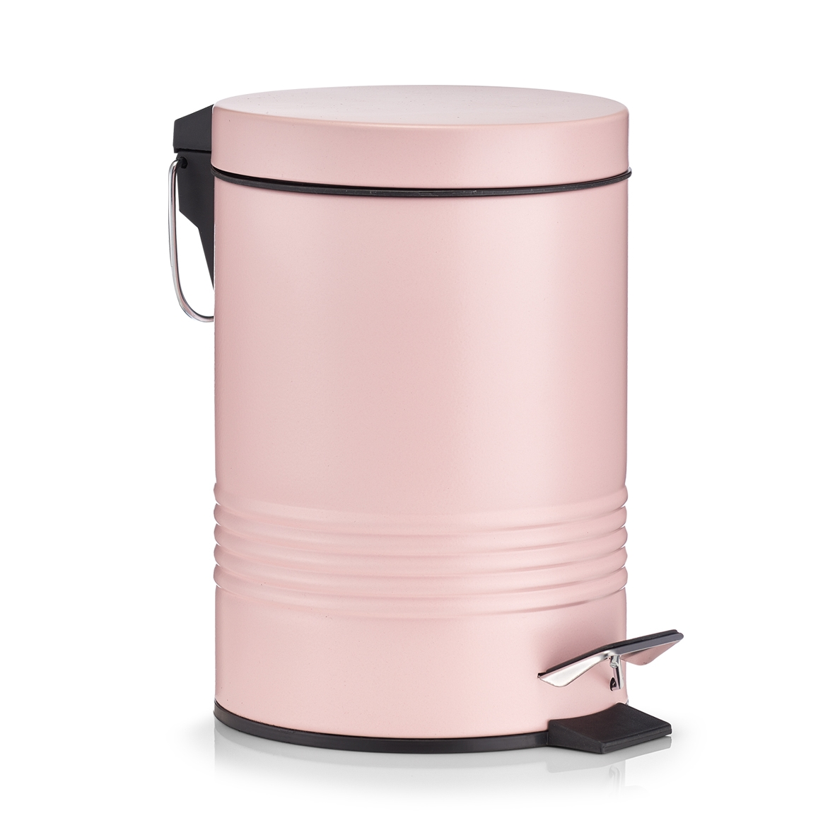 Cos de gunoi cu pedala pentru baie, Rose, 3L imagine