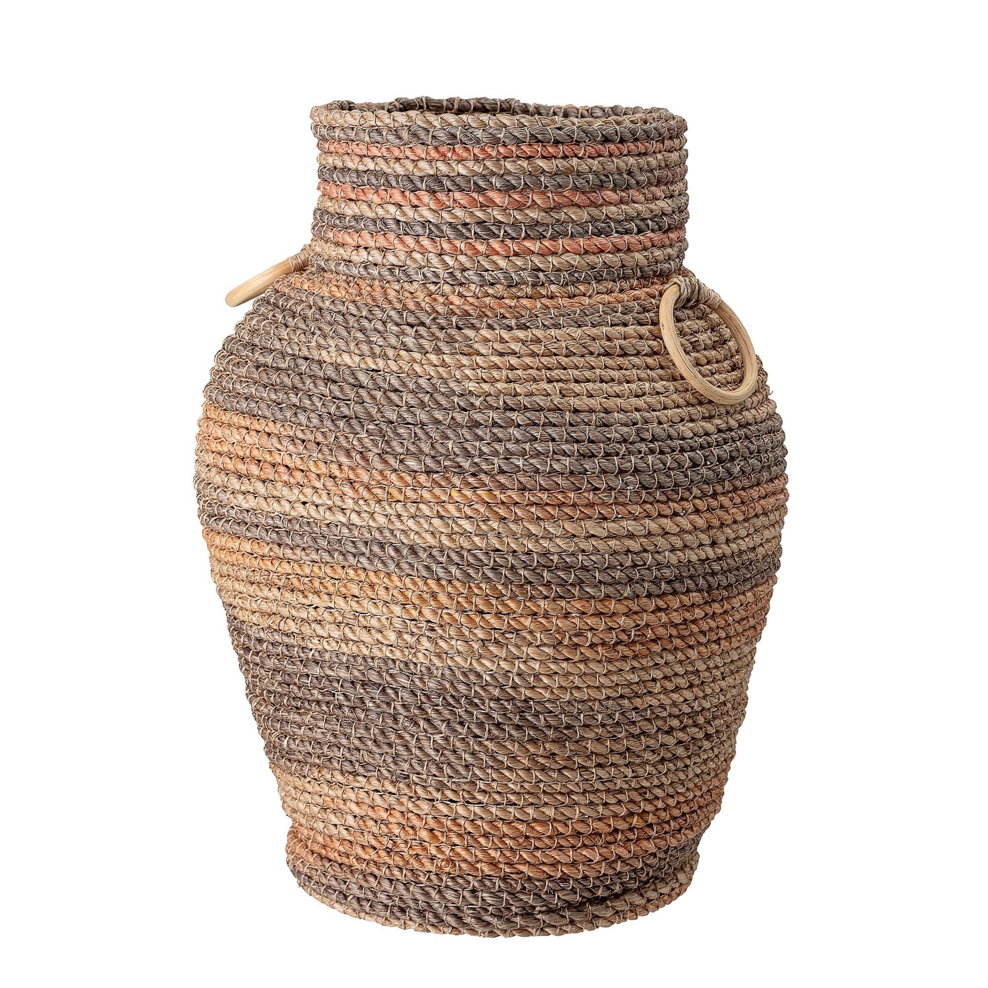 Cos pentru depozitare din abaca, Jina Multicolor, Ø39,5xH53,5 cm