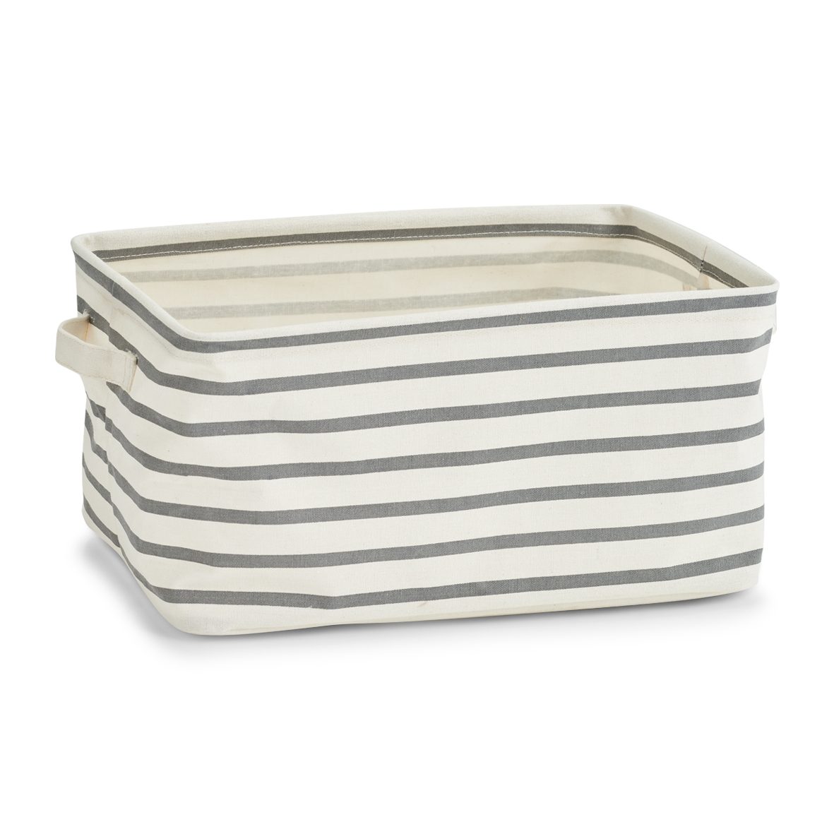 Cos pentru depozitare din panza, Grey III Stripes, l36xA25xH18 cm imagine