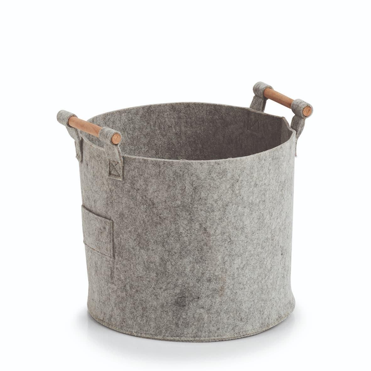 Cos pentru depozitare, Storage Round Small Gri, Ø31xH28 cm
