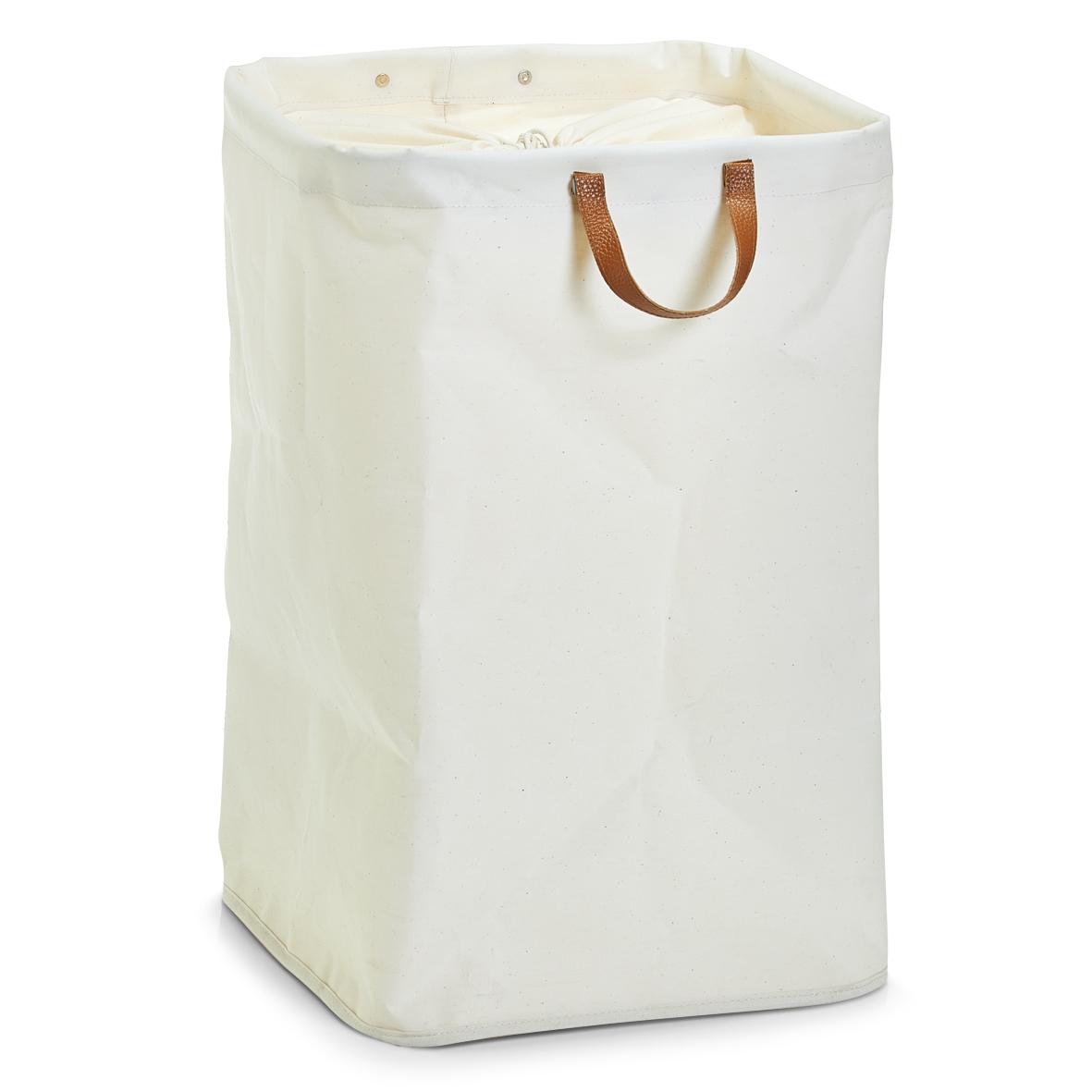 Cos pentru rufe Cotton White Poliester l35xA35xH53 cm