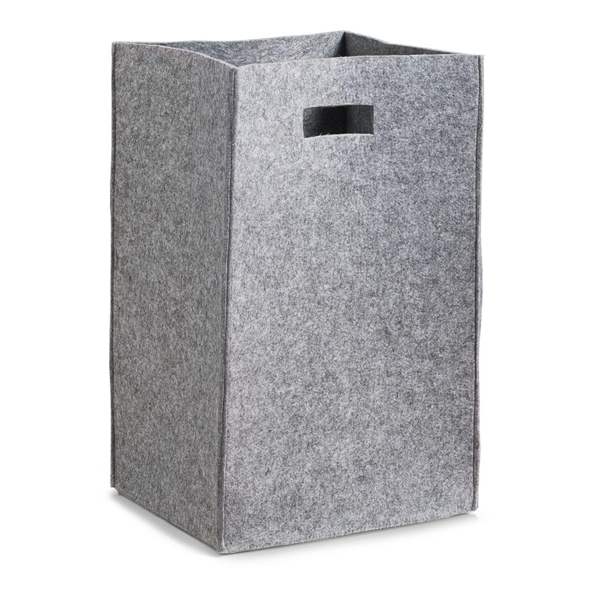 Cos pentru rufe Cozy, din pasla, Grey, l35xA30xH55 cm poza