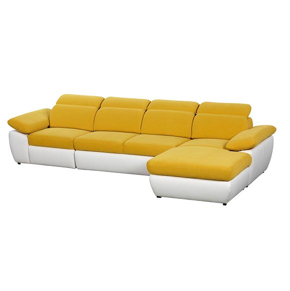 Coltar extensibil cu lada de depozitare, cu sezlong pe dreapta Cover Yellow, l337xA187xH85 cm de la