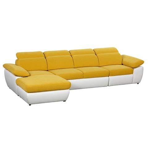 Coltar extensibil cu lada de depozitare, cu sezlong pe stanga Cover Yellow, l337xA187xH85 cm de la