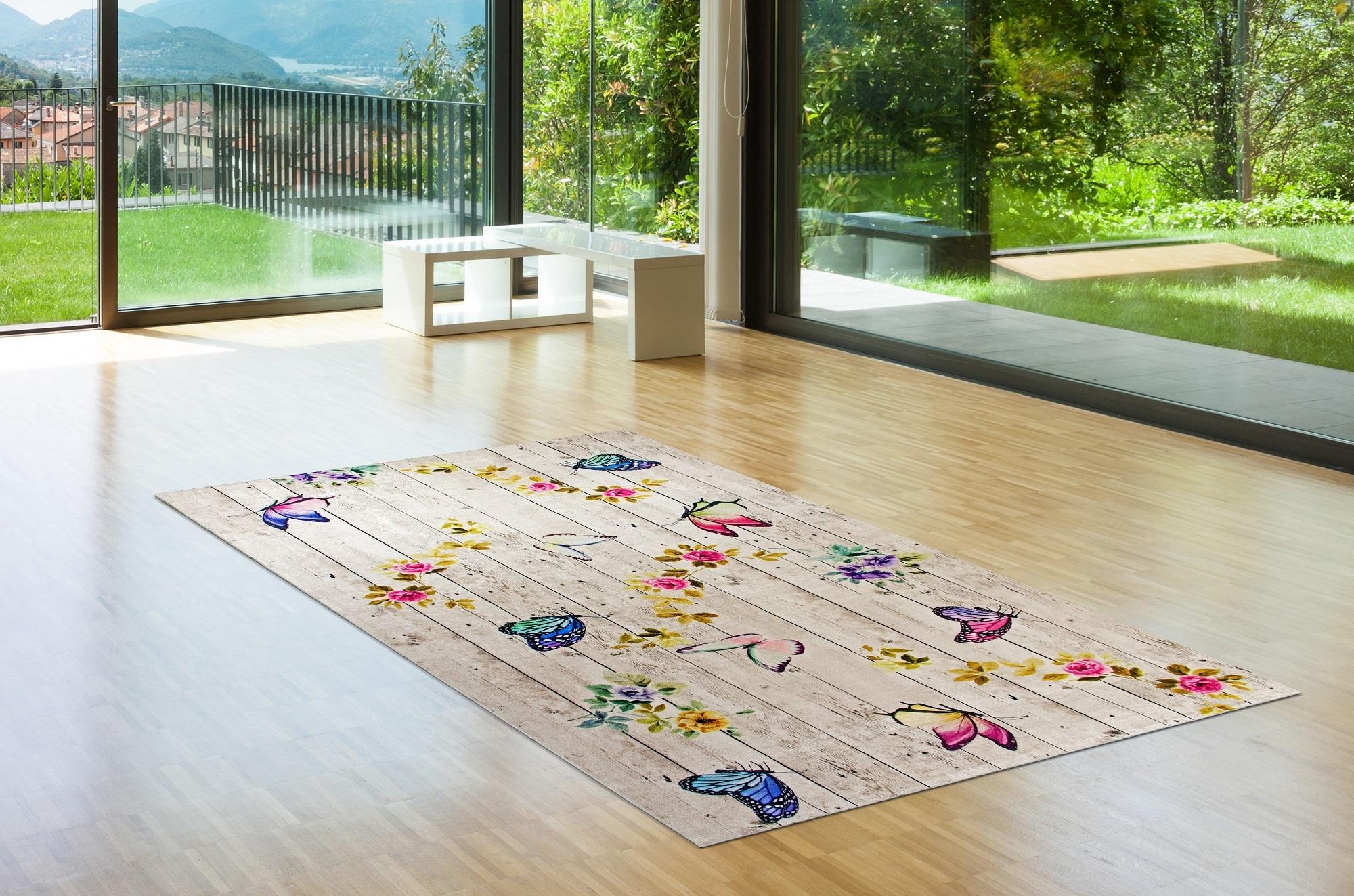 Covor Butterflowers 5016 Multicolor, 50 x 80 cm poza