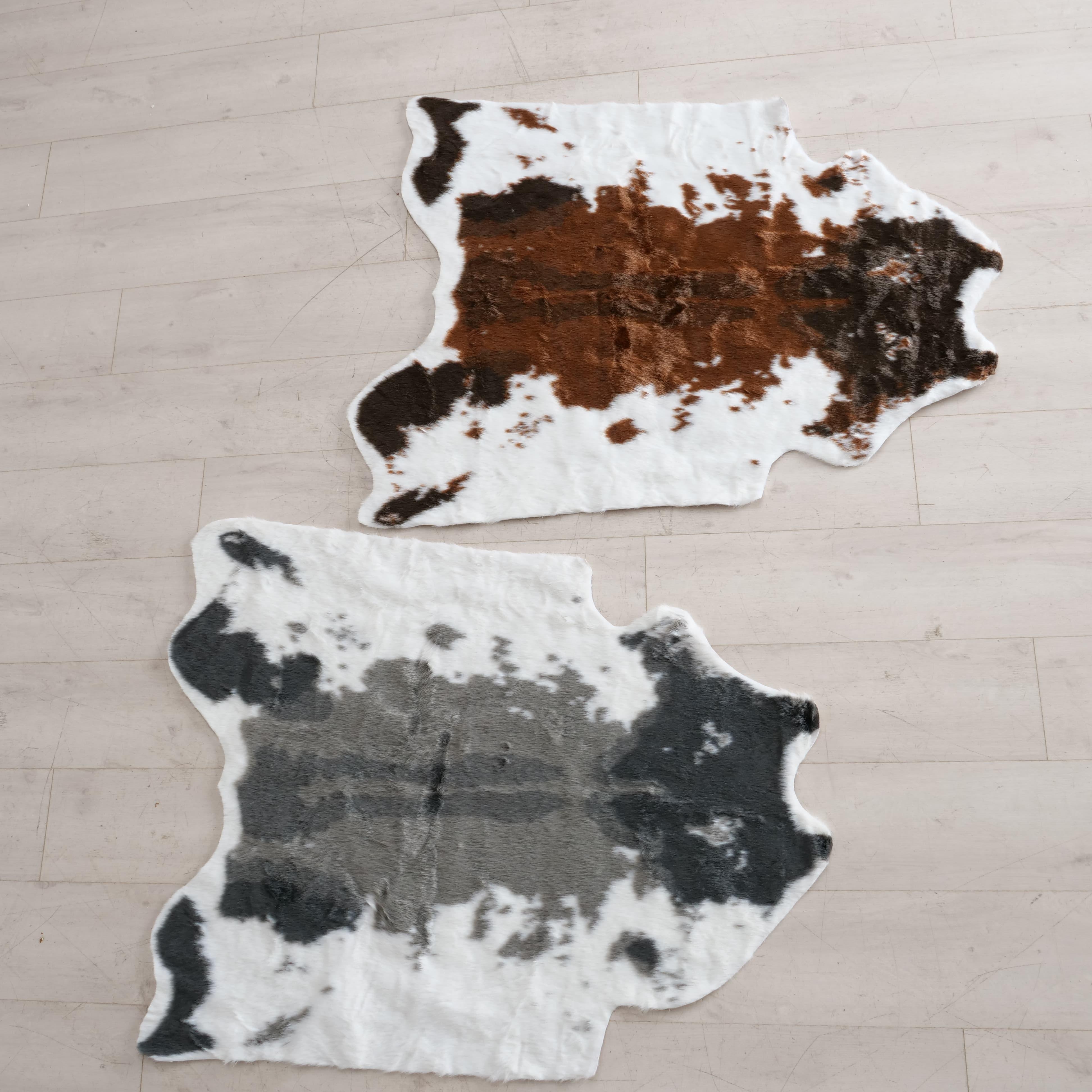 Covor Cow Multicolor, Modele Asortate, 110 x 95 cm poza