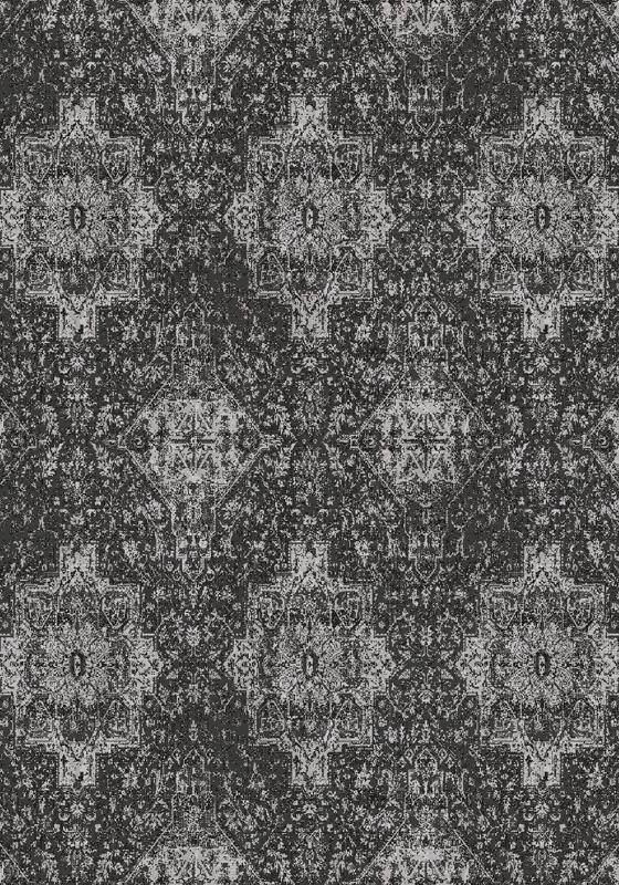 Covor din lana Augustus Charcoal Wilton