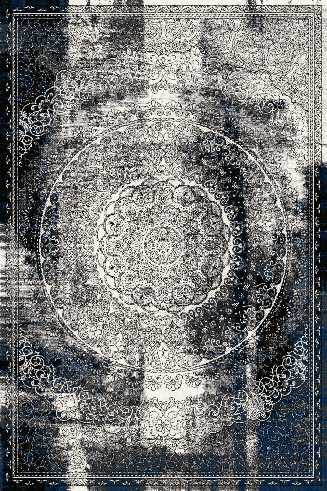 Covor din lana Cirrus Negru, Wilton imagine