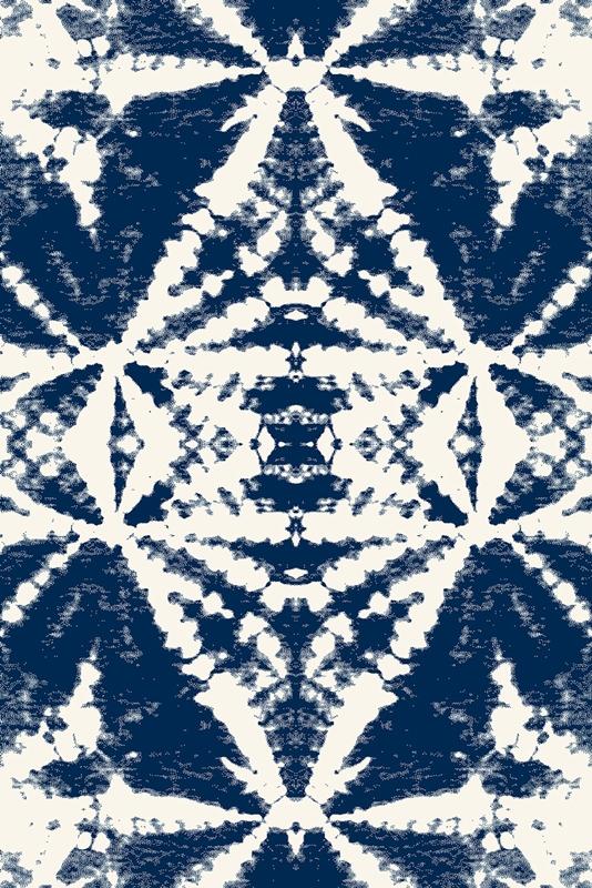 Covor din lana Fusi Navy Blue Wilton