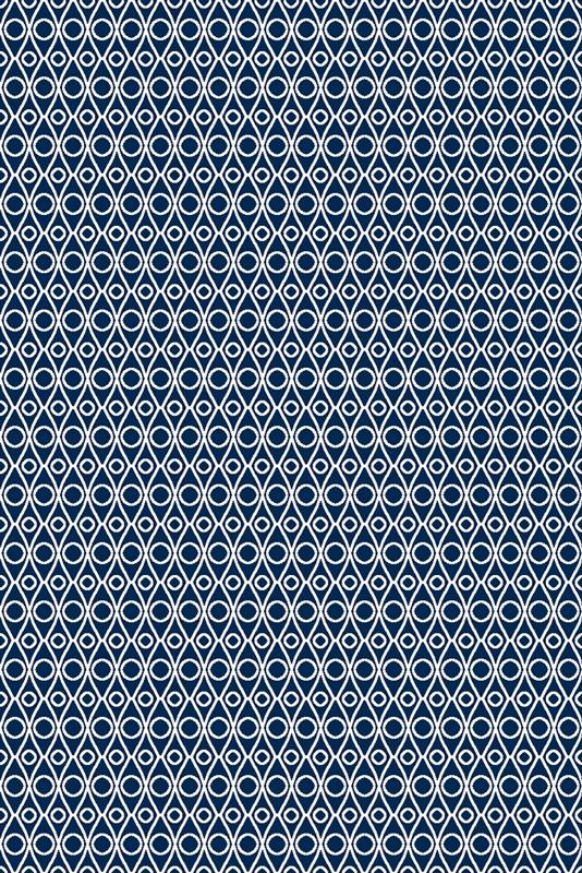 Covor din lana Palpe Navy Blue Wilton