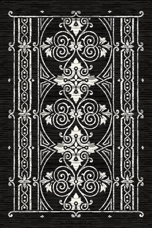 Covor din lana Porta Black Wilton