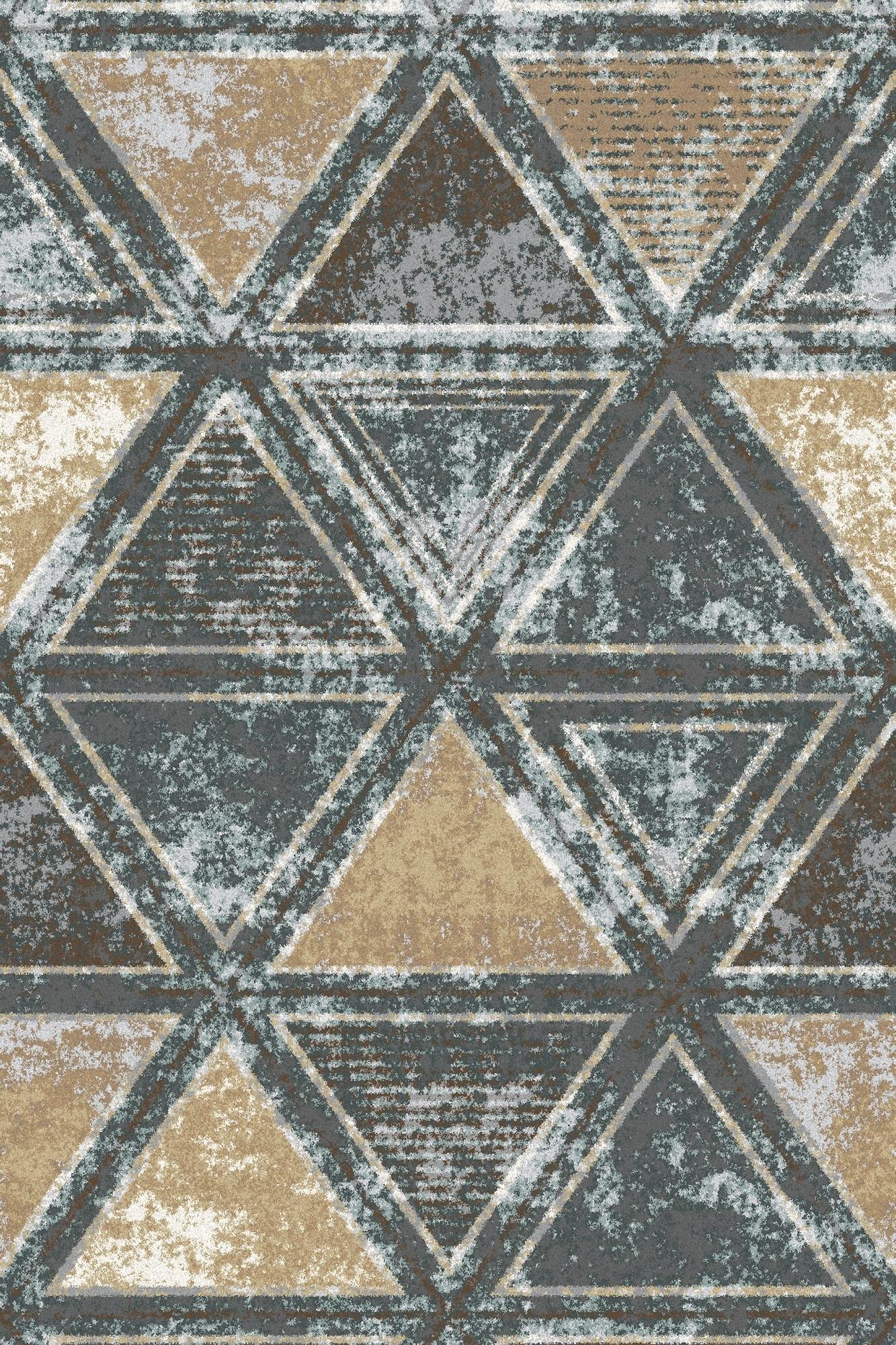 Covor din lana si poliamida Kalme Grafit Axminster