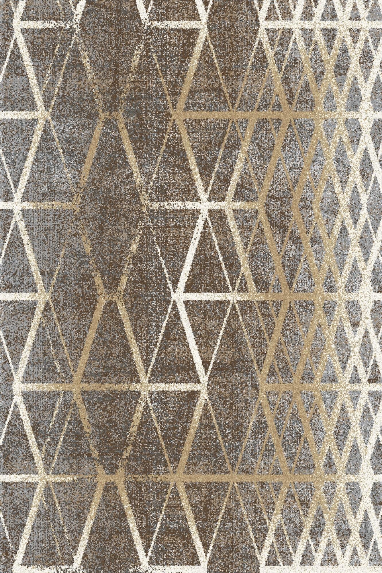 Covor din lana si poliamida Tange Auriu, Axminster