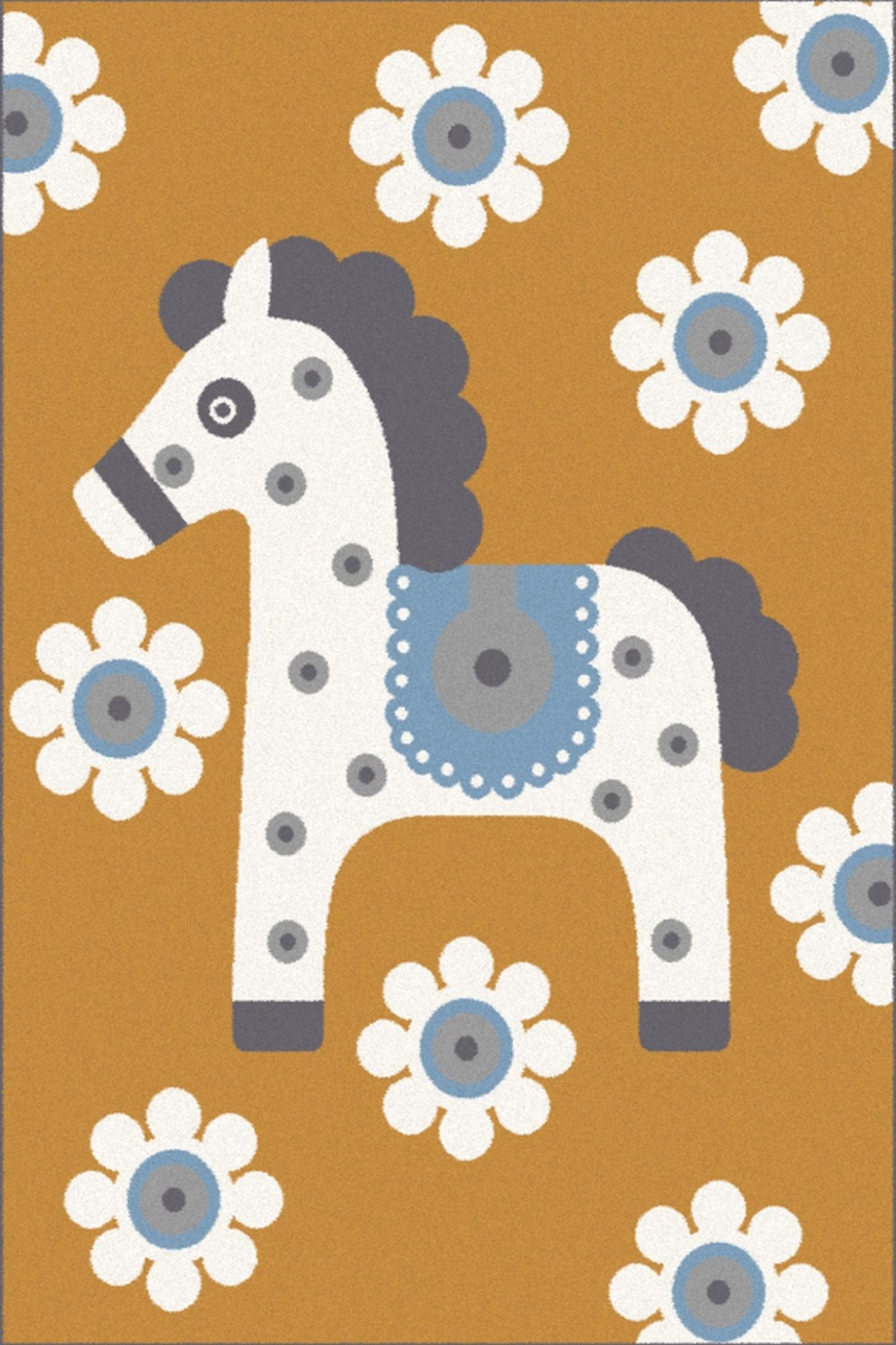 Covor din PP Cavallo Auriu Wilton