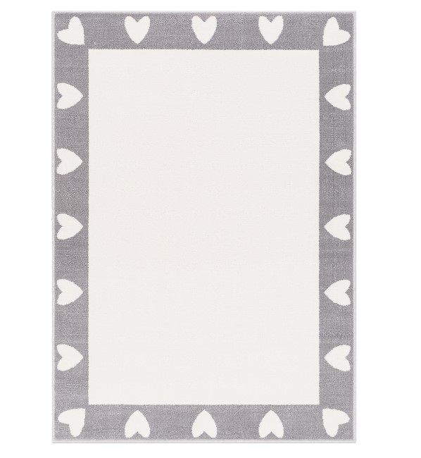 Covor din PP Heart Grey Wilton