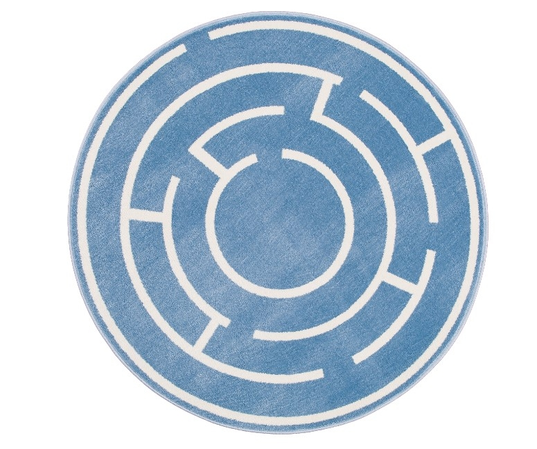 Covor din PP Labic Blue Round Wilton