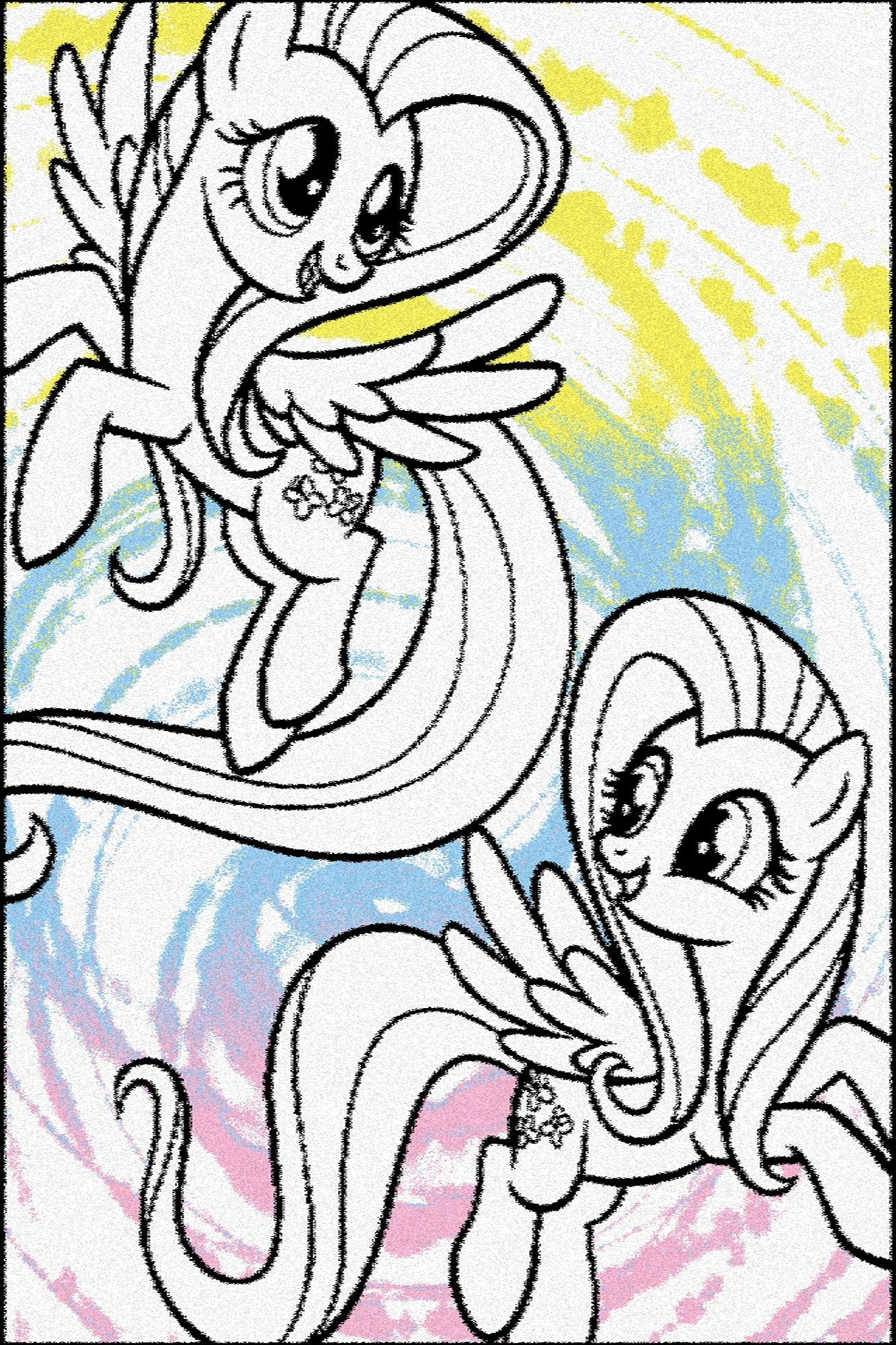 Covor din PP My Little Pony Cartoon Alb Wilton