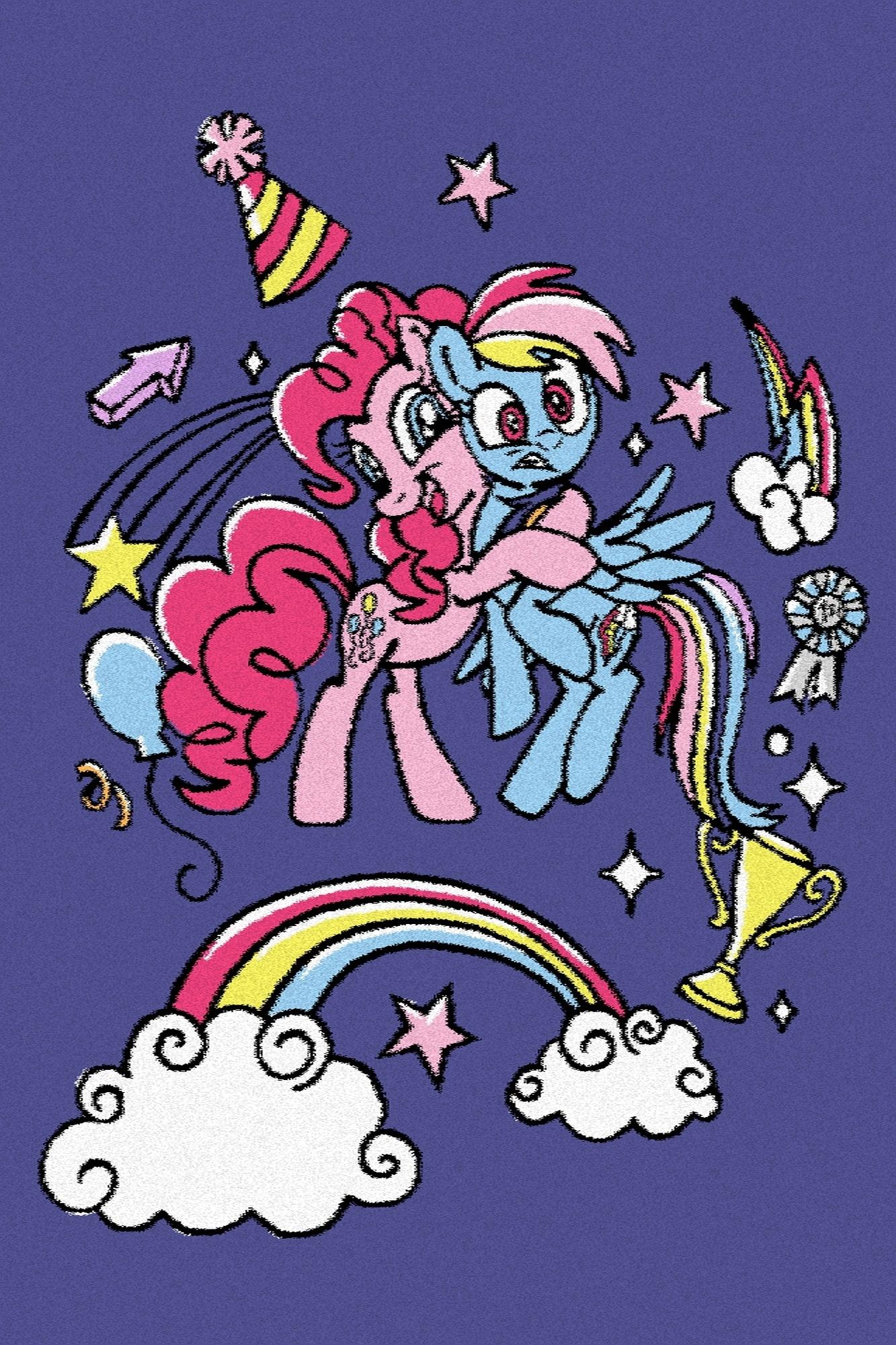 Covor din PP My Little Pony Hugs Bleumarin Wilton