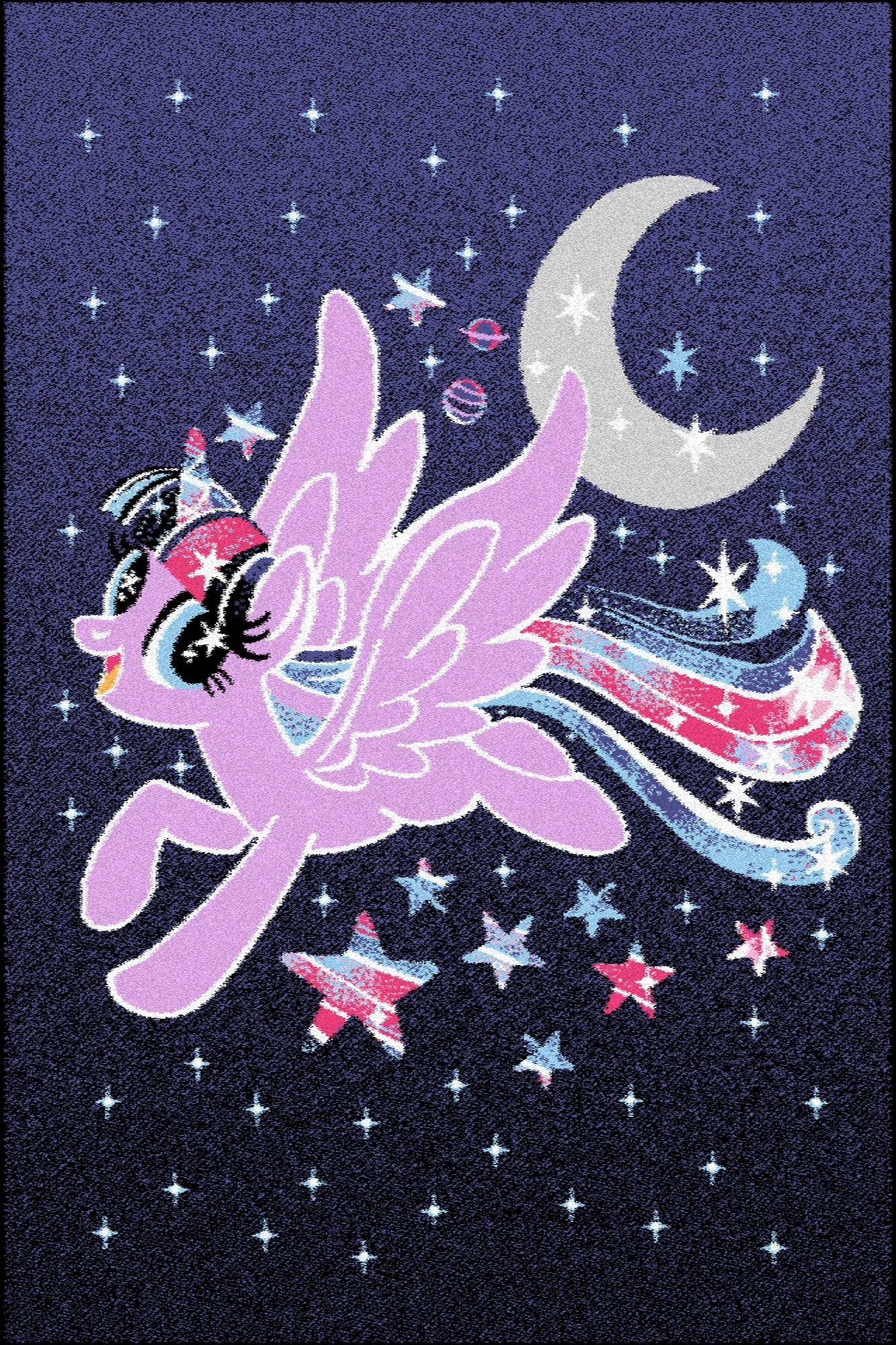 Covor din PP My Little Pony Magic Negru Wilton