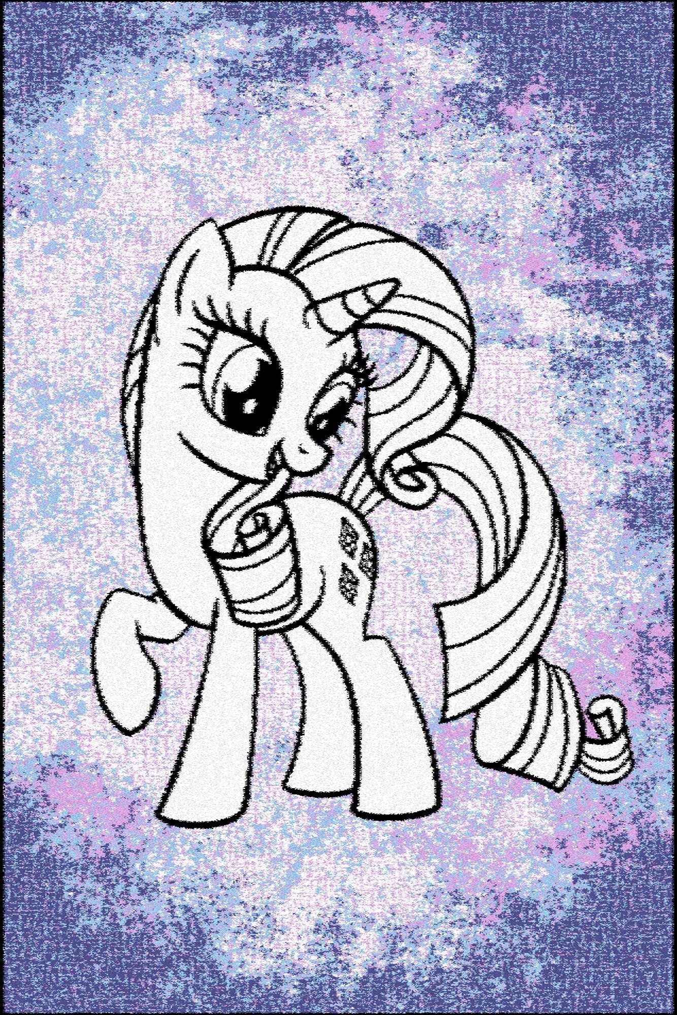 Covor din PP My Little Pony Rarity Violet Wilton