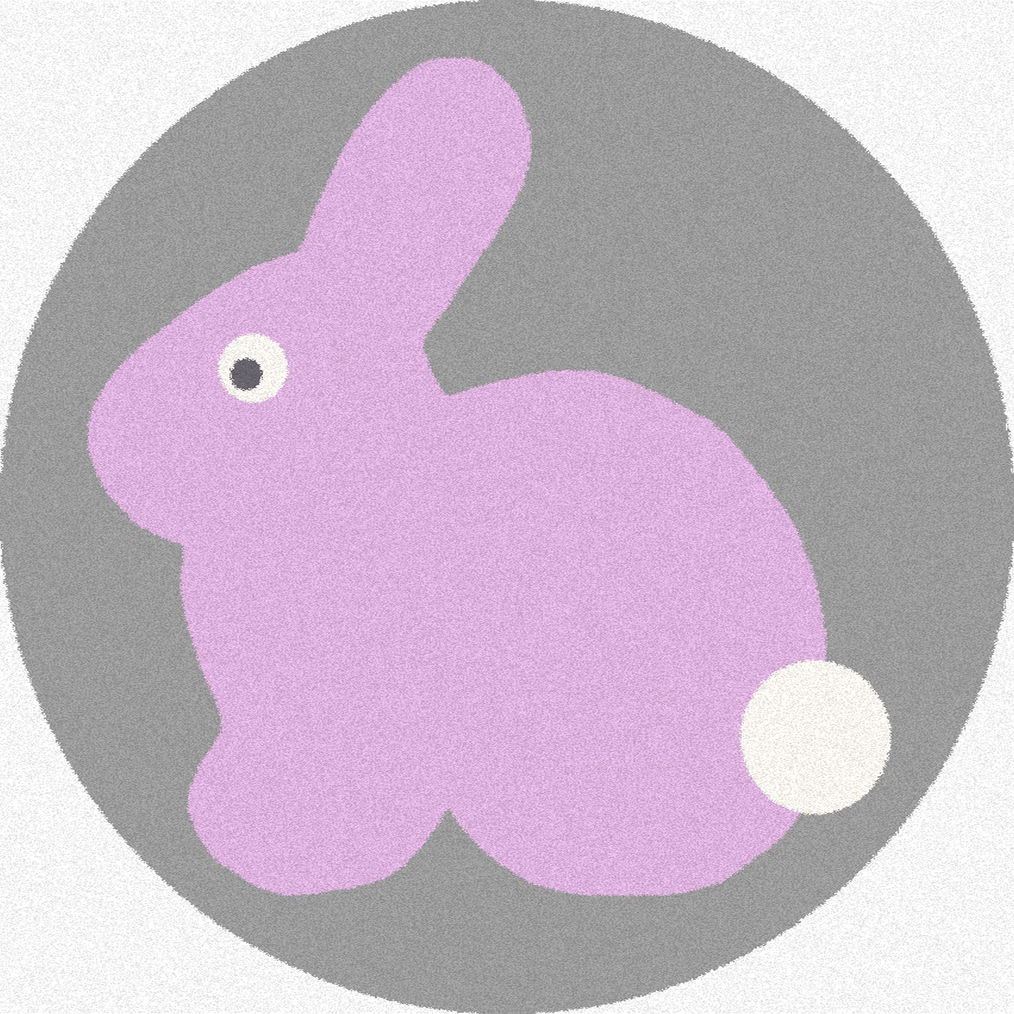 Covor din PP Rabbit Pink Round, Wilton imagine