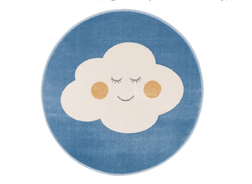 Covor din PP Cloud Blue Round Wilton