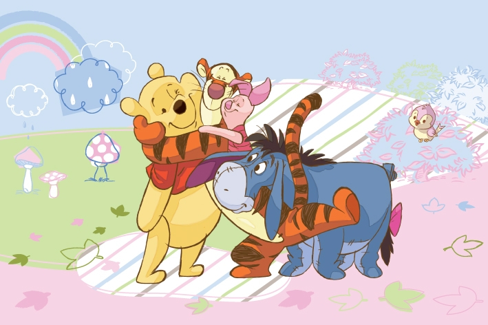 Covor Disney Kids Winnie Rainbow Imprimat Digital-230 x 160 cm