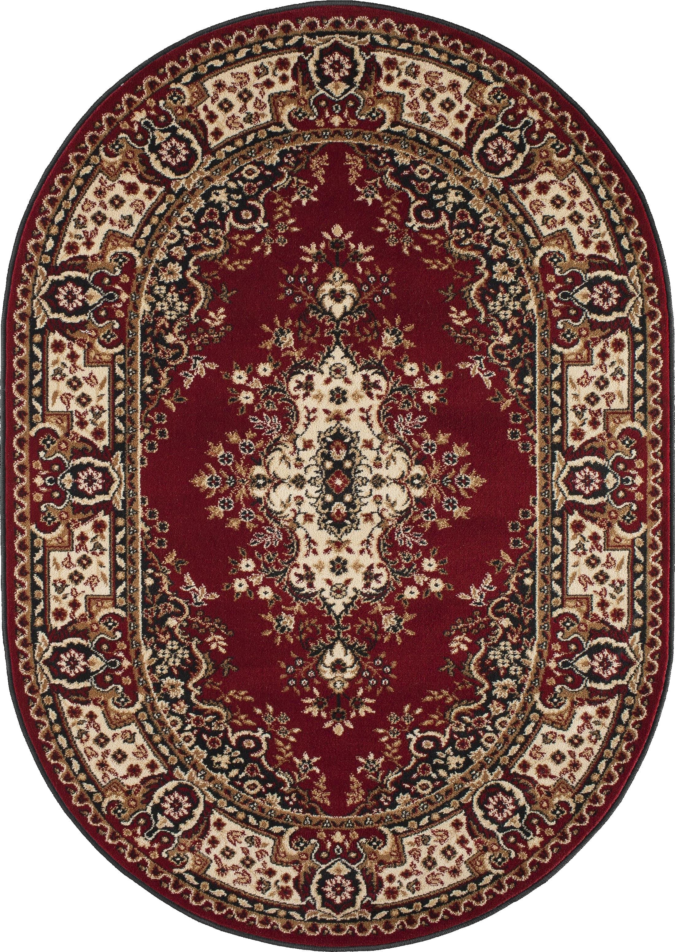 Covor Fatima Dark Red Oval, Wilton poza