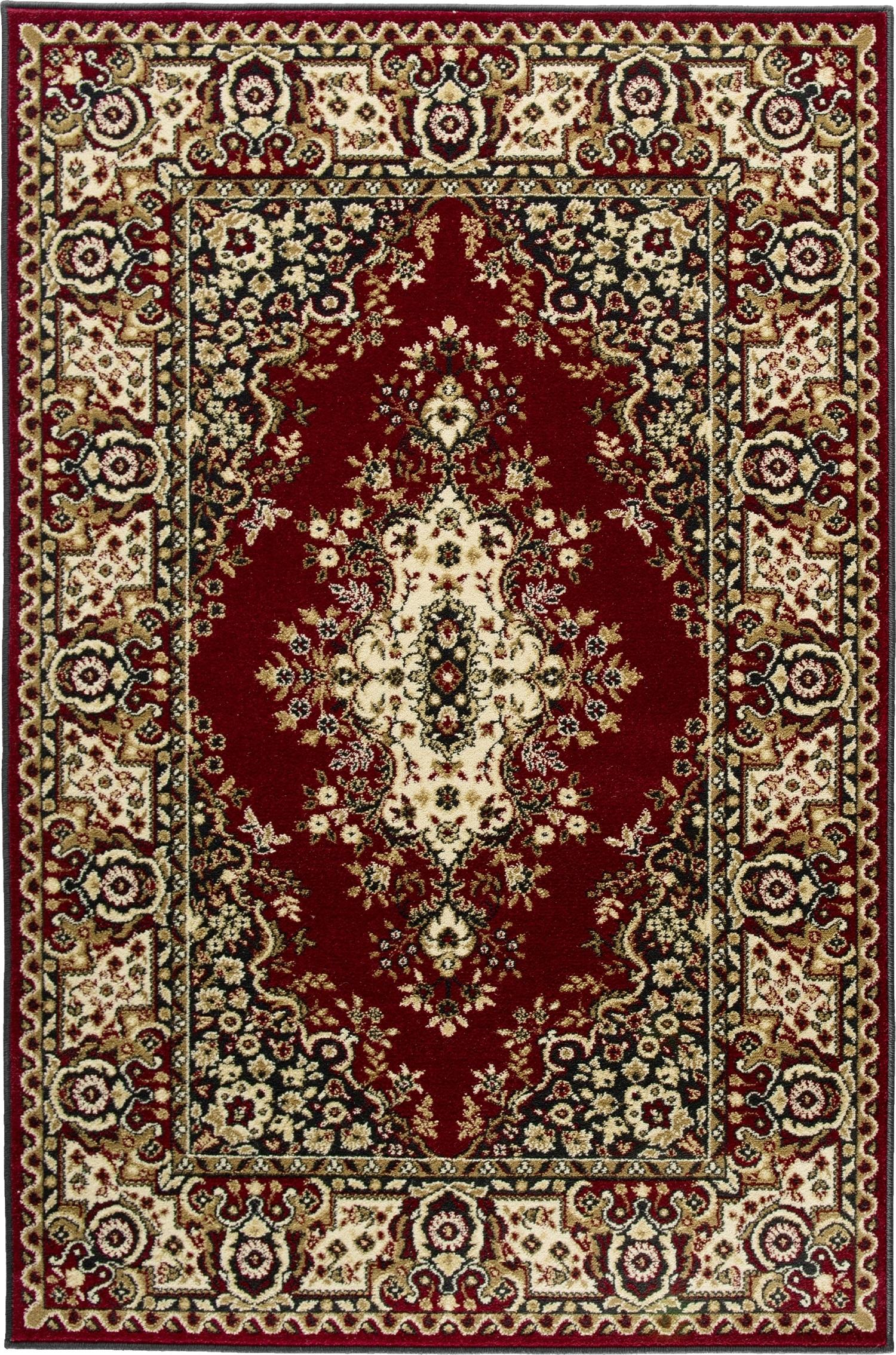 Covor Fatima Dark Red, Wilton somproduct.ro