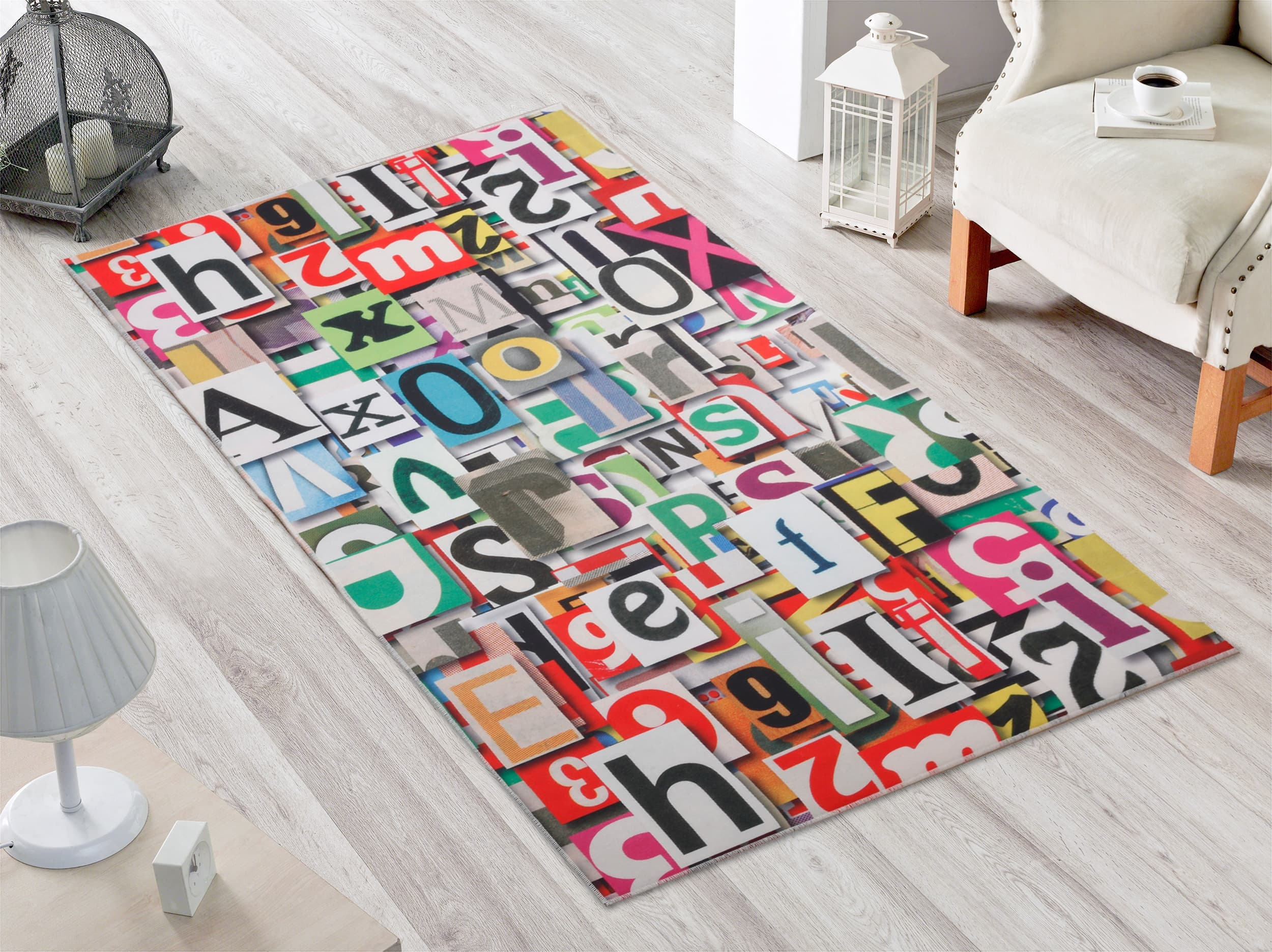 Covor Letters 2012 Multicolor, 80 x 170 cm imagine