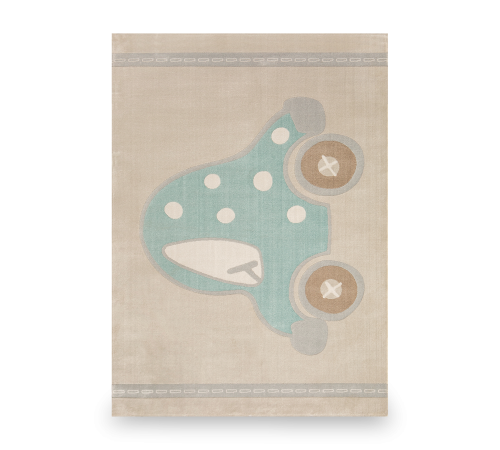 Covor pentru copii Baby Boy Cream / Turquoise, 133 x 190 cm