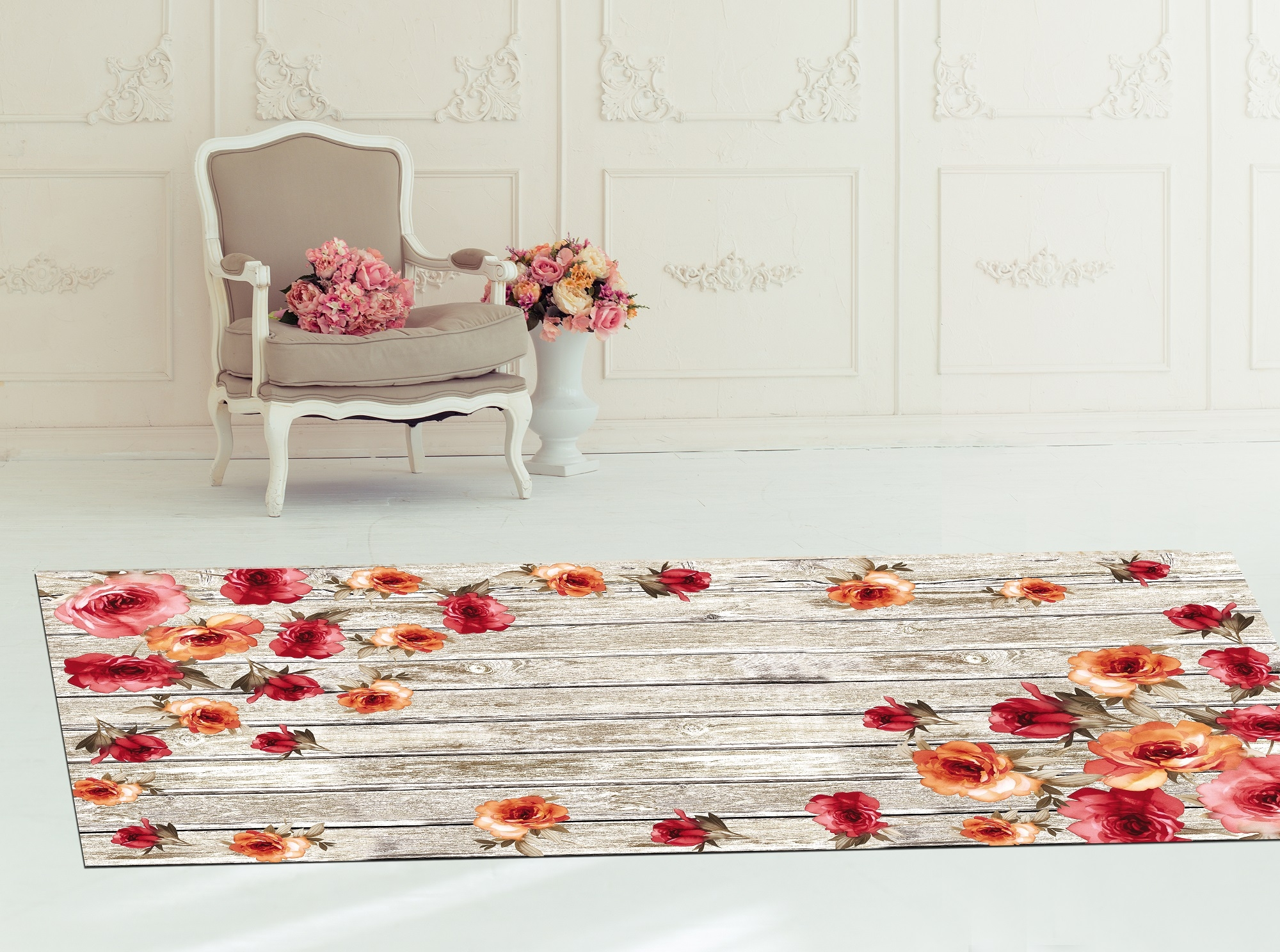 Covor Roses 5017 Multicolor, 80 x 150 cm imagine