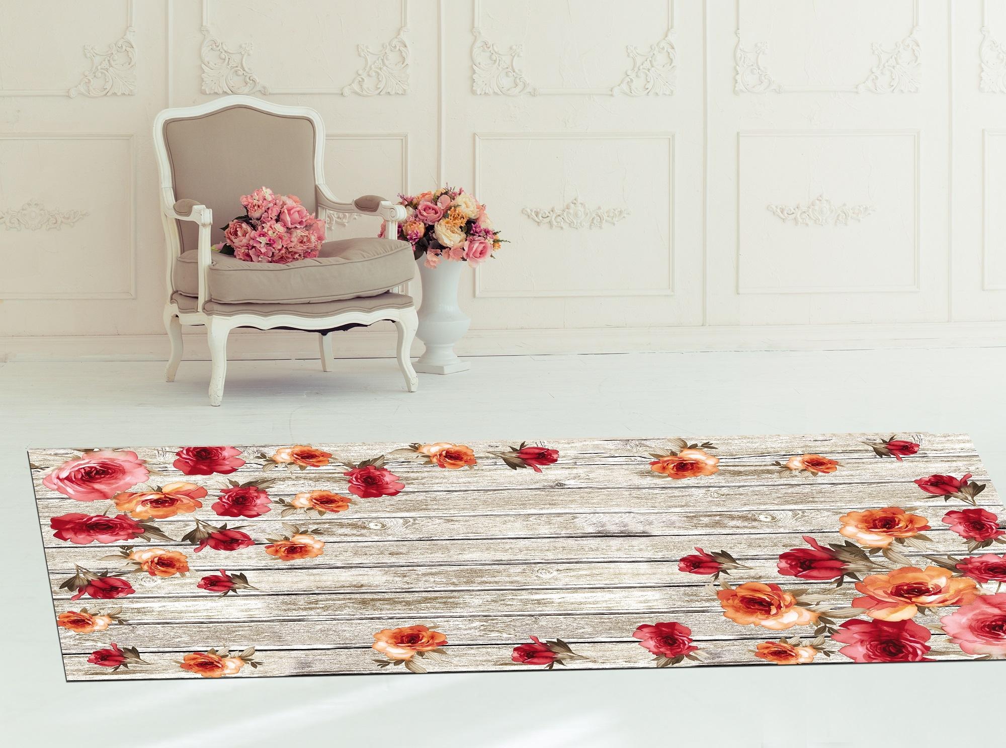 Covor Roses 5017 Multicolor, 80 x 200 cm