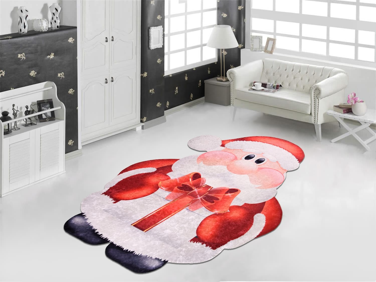 Covor Santa Claus C1003 Multicolor, 60 x 100 cm imagine