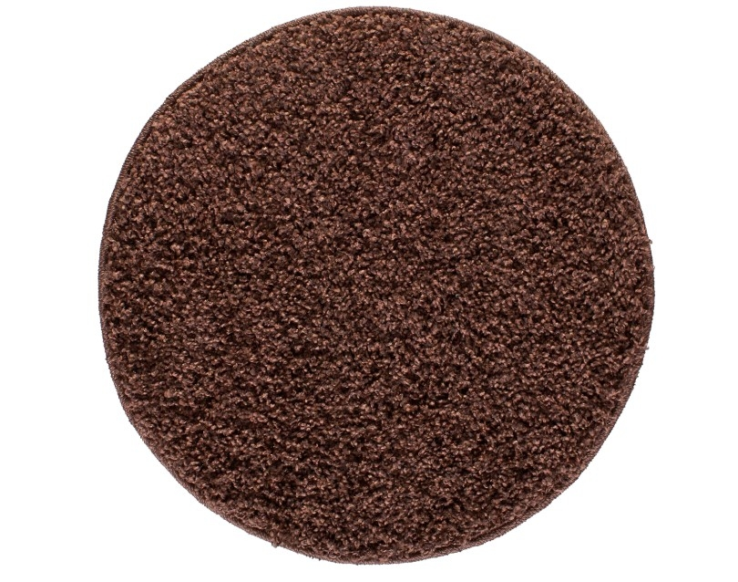 Covor shaggy din PP Lumini Brown Round Wilton