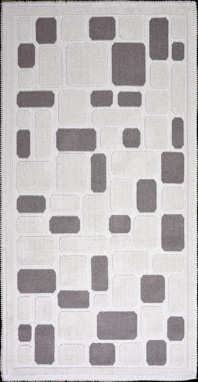 Covor tesut din bumbac Mozaik Bej, 60 x 90 cm