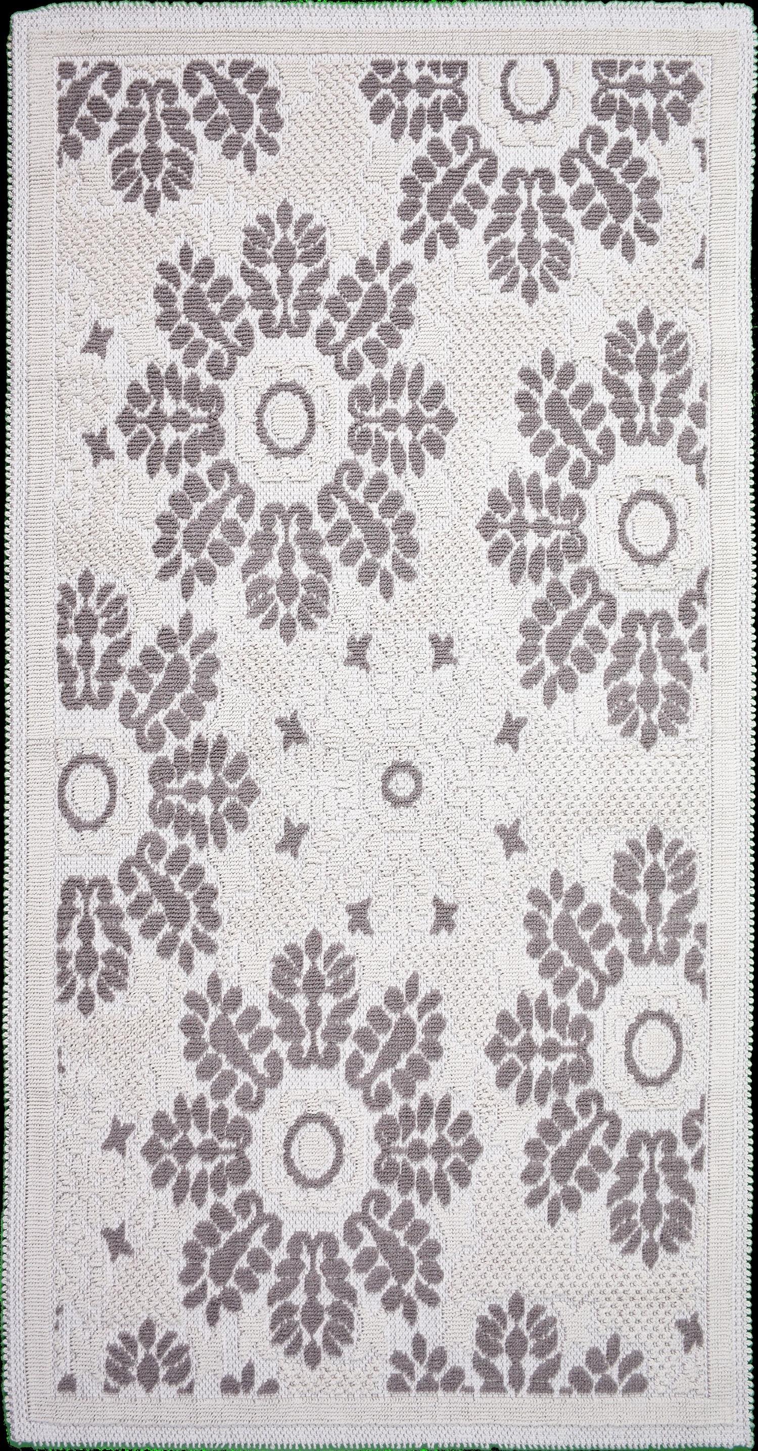 Covor tesut din bumbac Papatya Bej, 80 x 150 cm