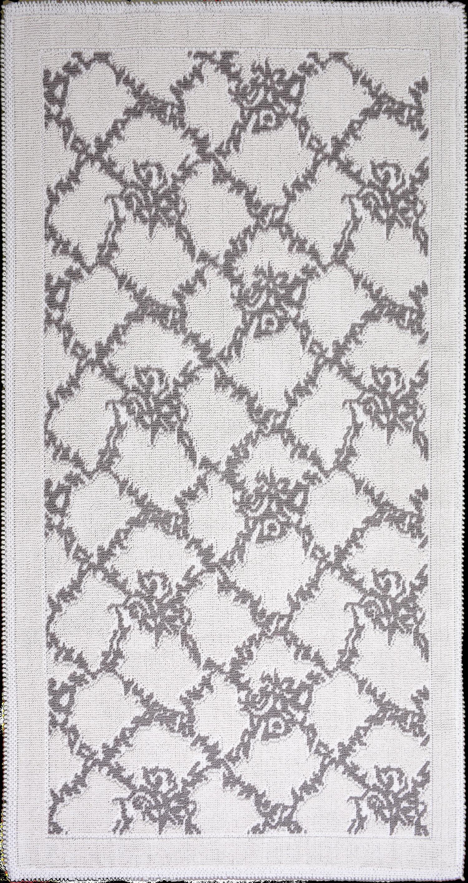 Covor tesut din bumbac Sarmasik Bej, 80 x 150 cm