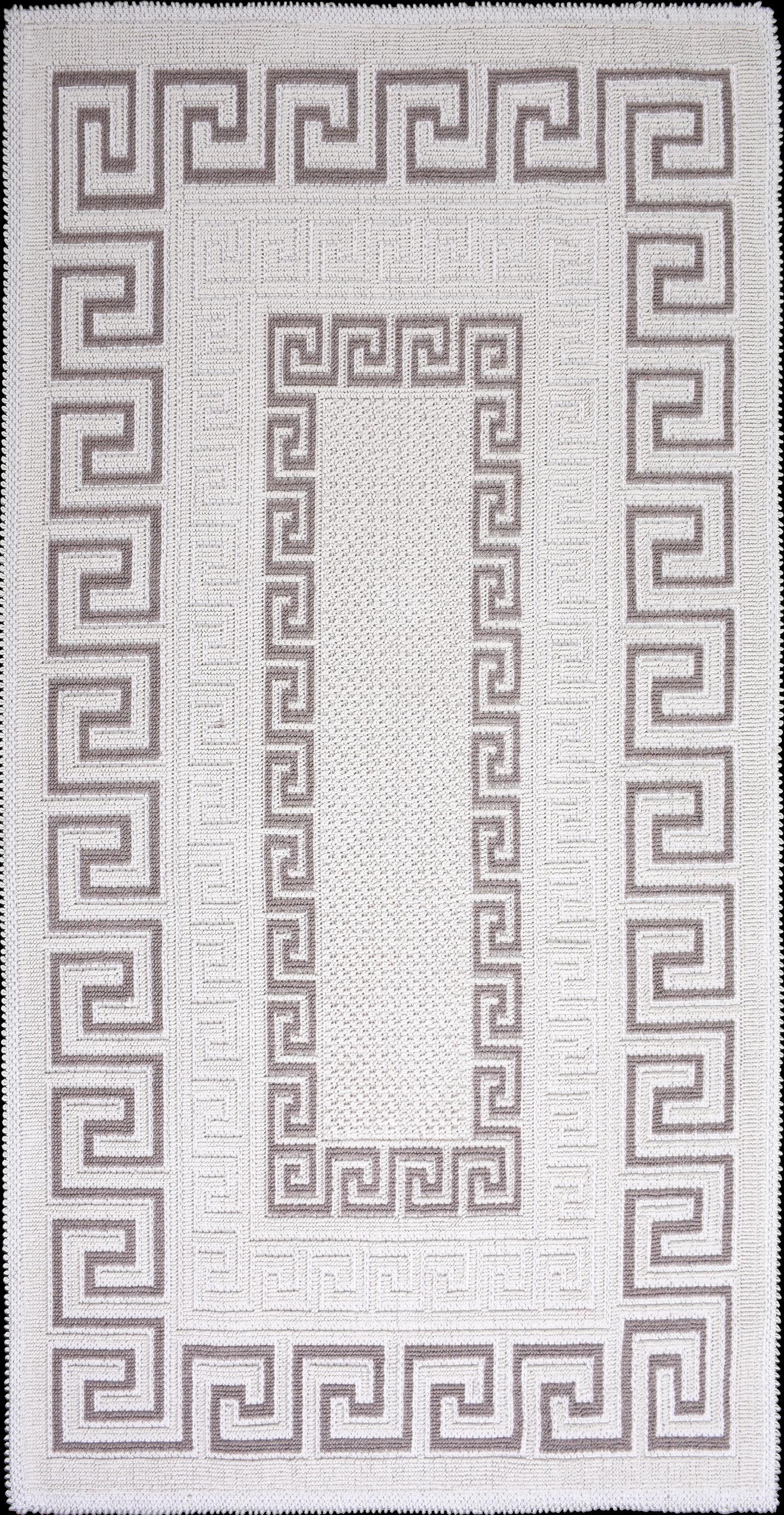 Covor tesut din bumbac Versace Bej, 80 x 150 cm