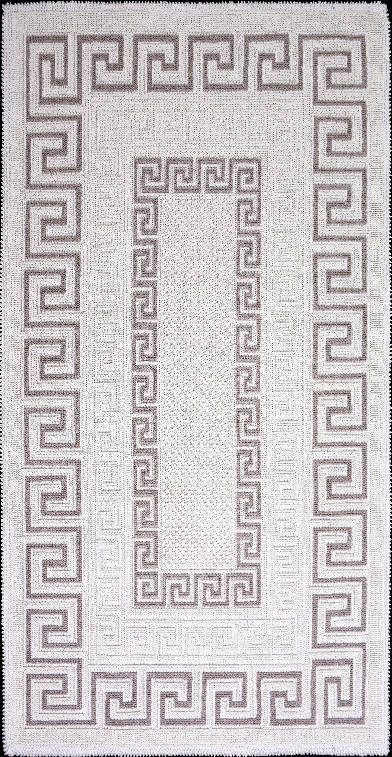 Covor tesut din bumbac Versace Bej, 80 x 200 cm