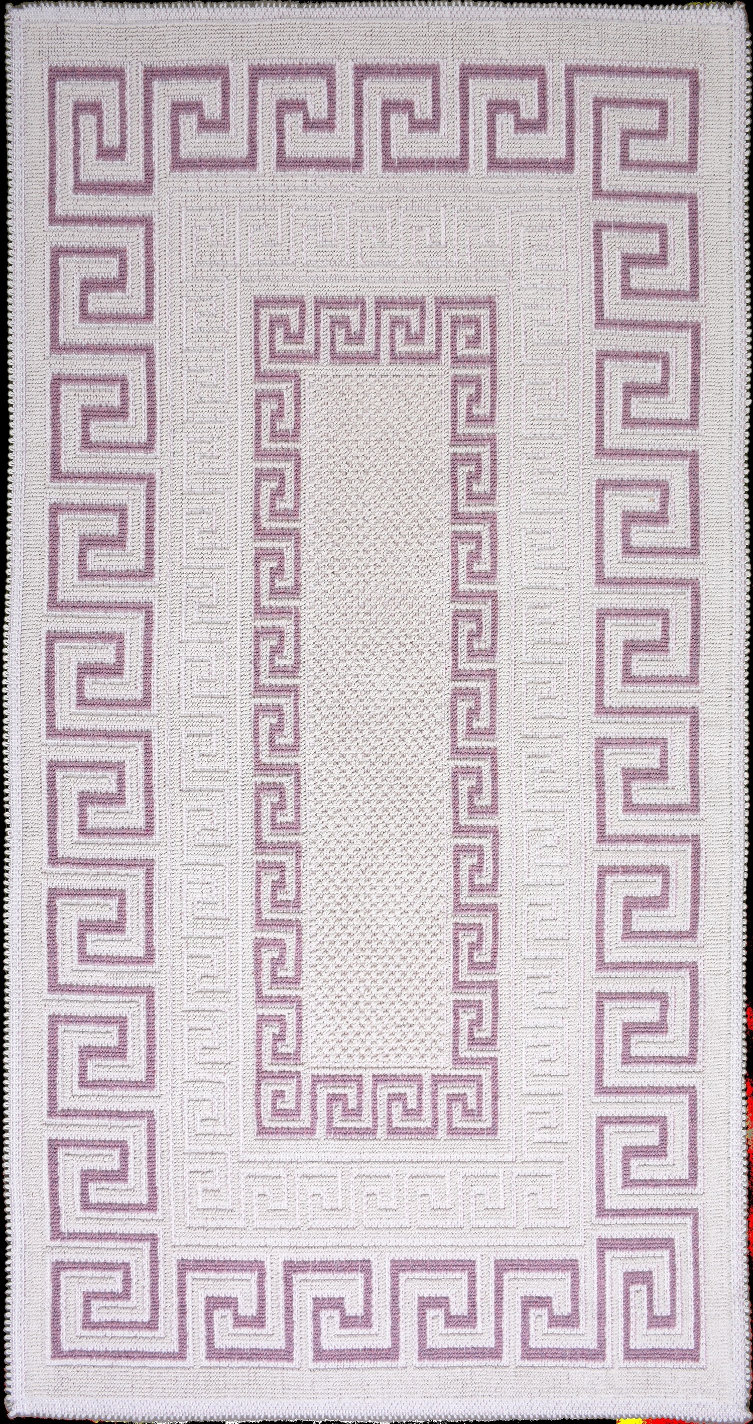 Covor tesut din bumbac Versace Roz, 80 x 150 cm