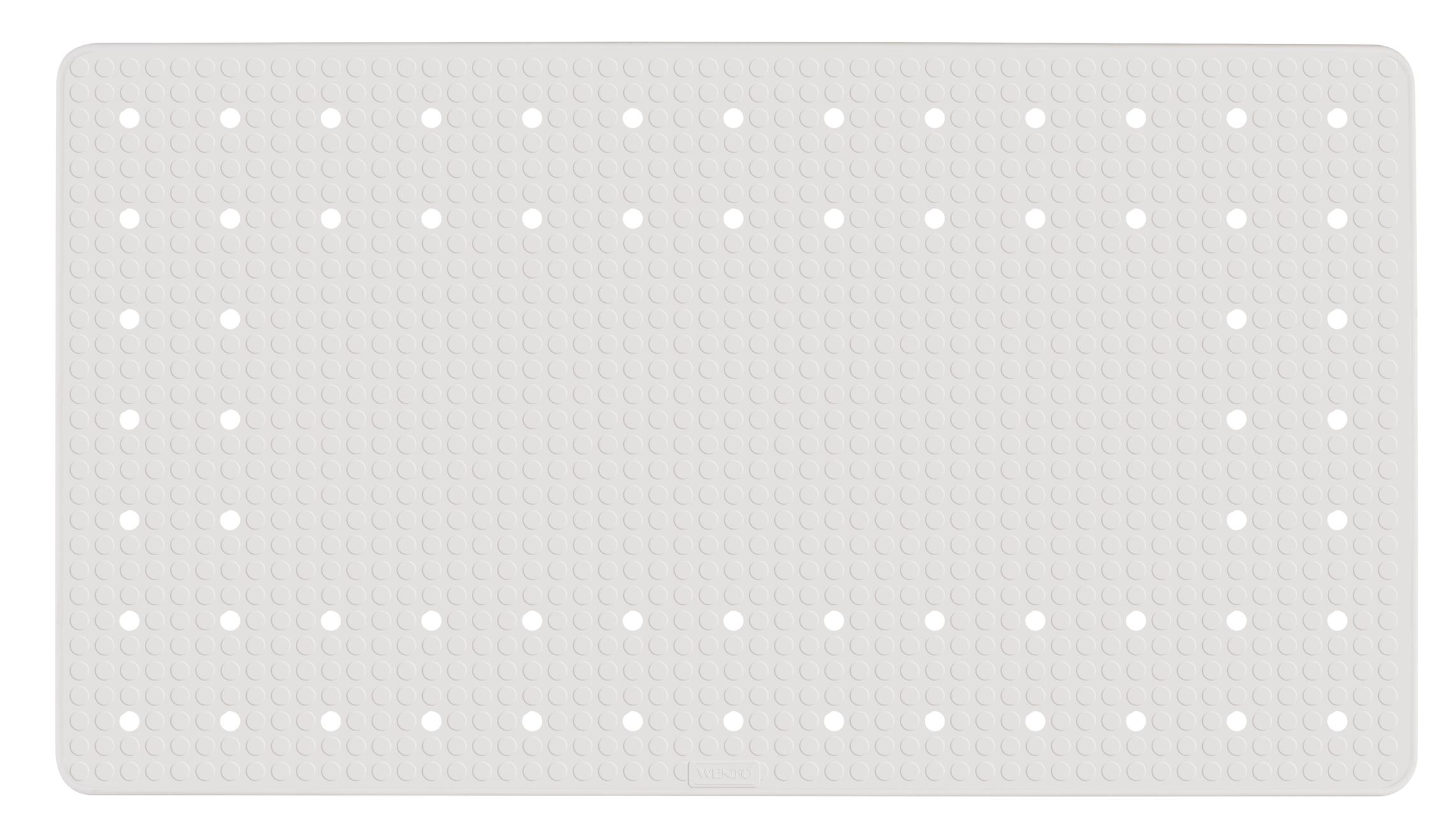 Covoras pentru baie antiderapant, din TPR, Mirasol Alb, 39 x 69 cm