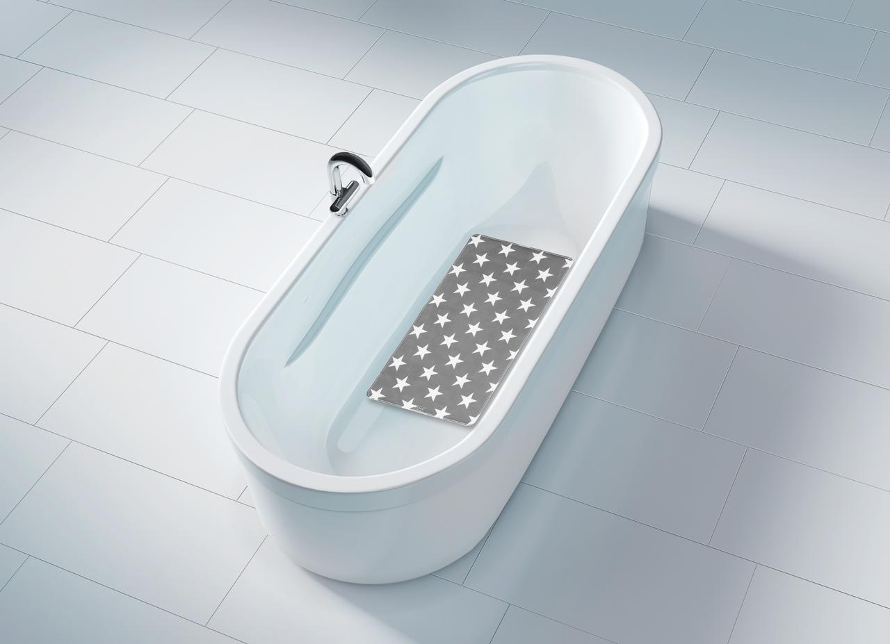Covoras pentru baie antiderapant, din TPR, Stella Gri, 40 x 70 cm imagine