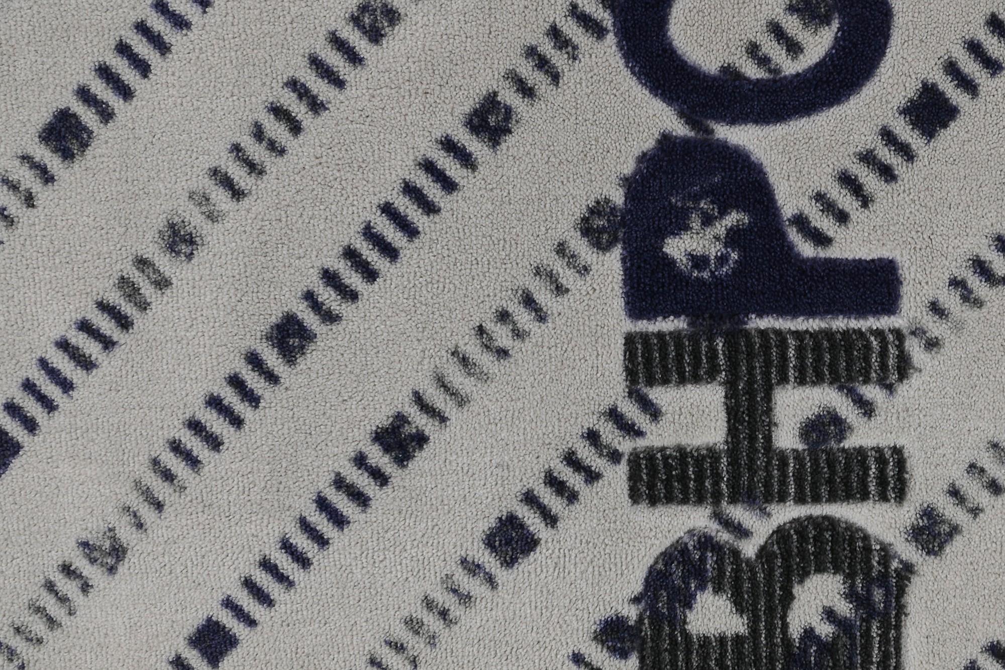 Covoras pentru baie Beverly Hills Polo Club 309 Gri / Bleumarin, 57 x 100 cm