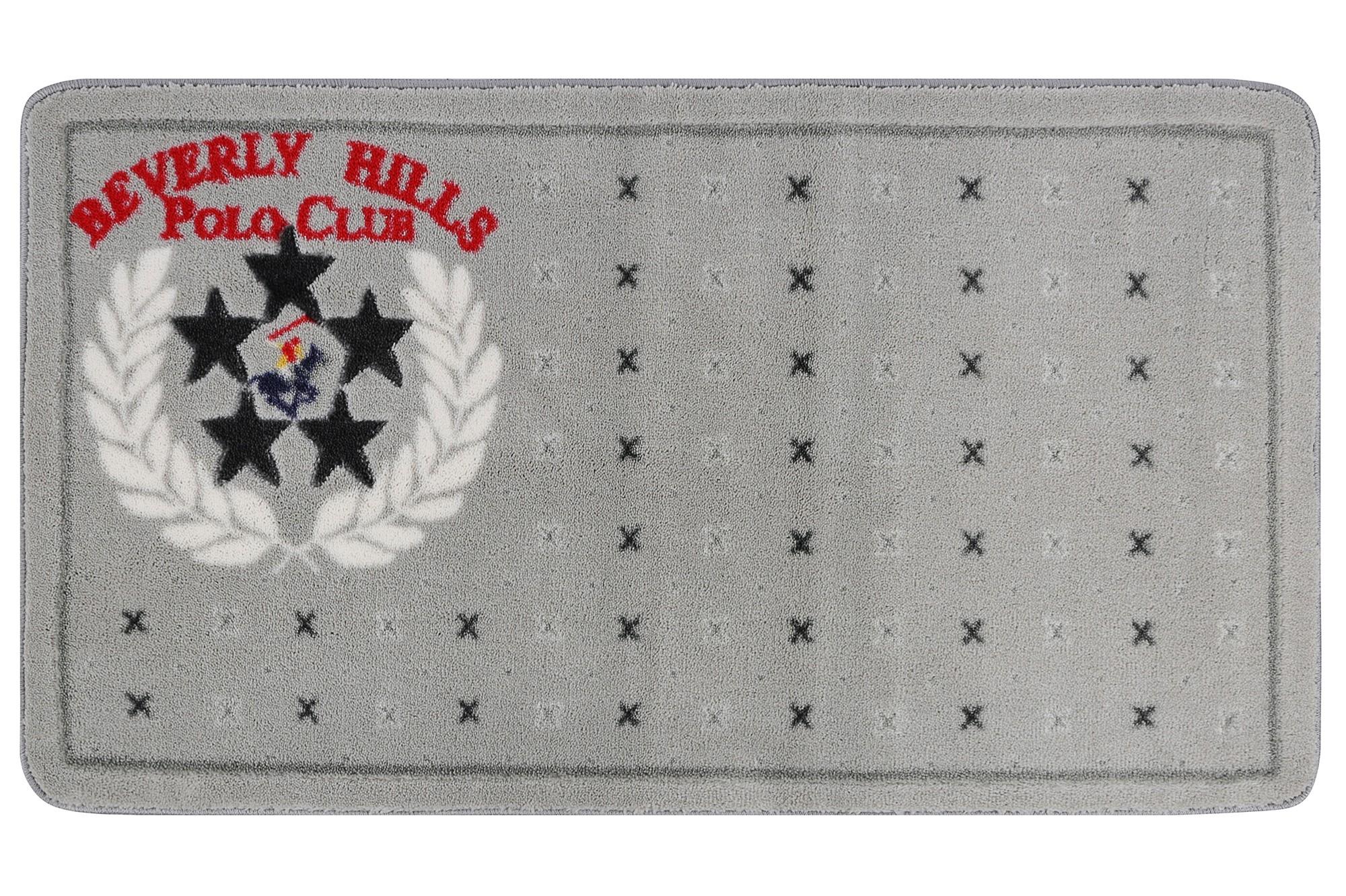 Covoras pentru baie Beverly Hills Polo Club 317 Gri, 67 x 120 cm