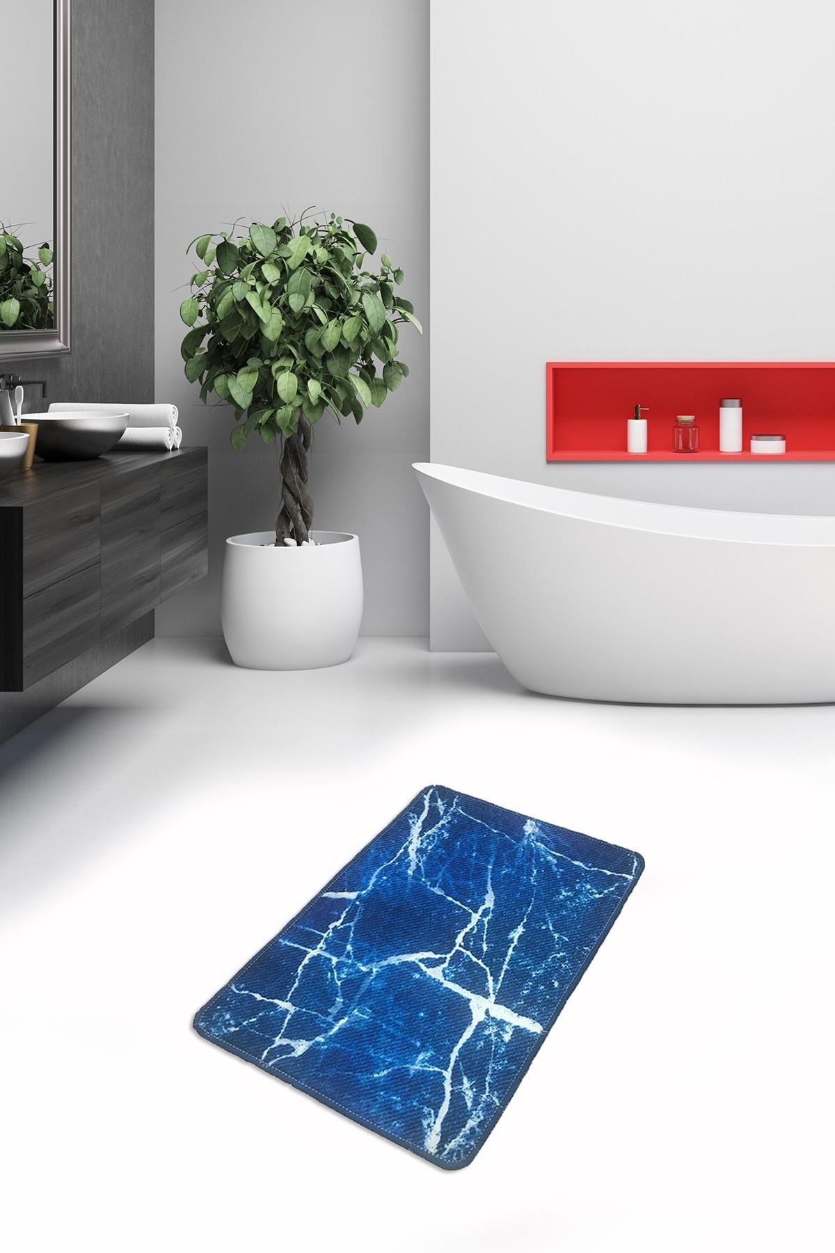 Covoras pentru baie Denim Albastru, 40 x 60 cm poza