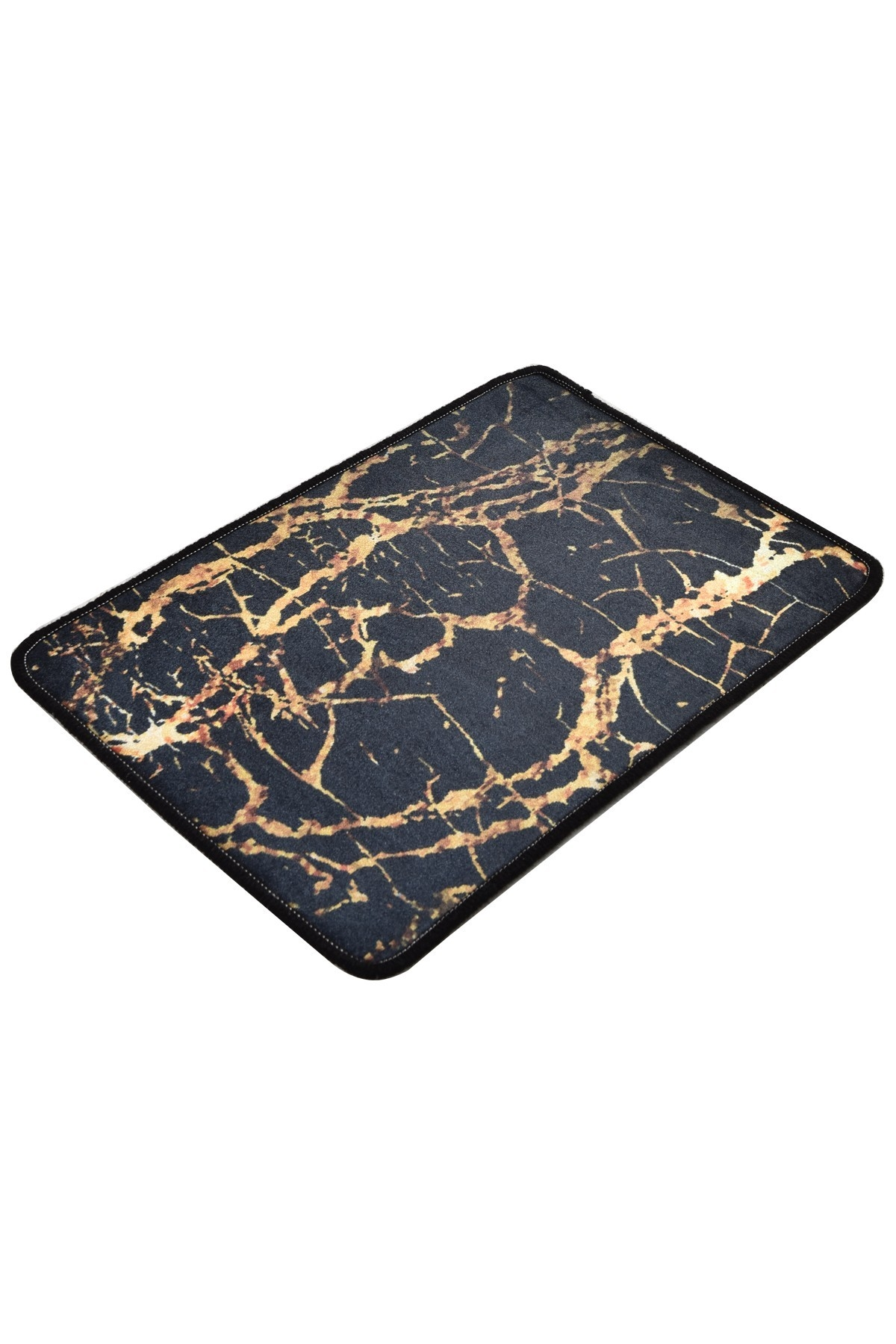 Covoras pentru baie Goldes Auriu / Negru, 40 x 60 cm poza